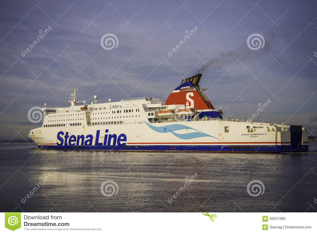 Stena Line Superfast ferry editorial image. Image of ...