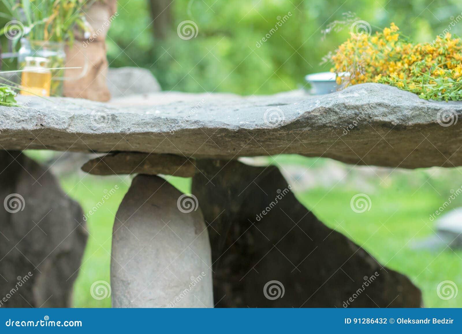 Stena tabellen i en av de Carpathian byarna