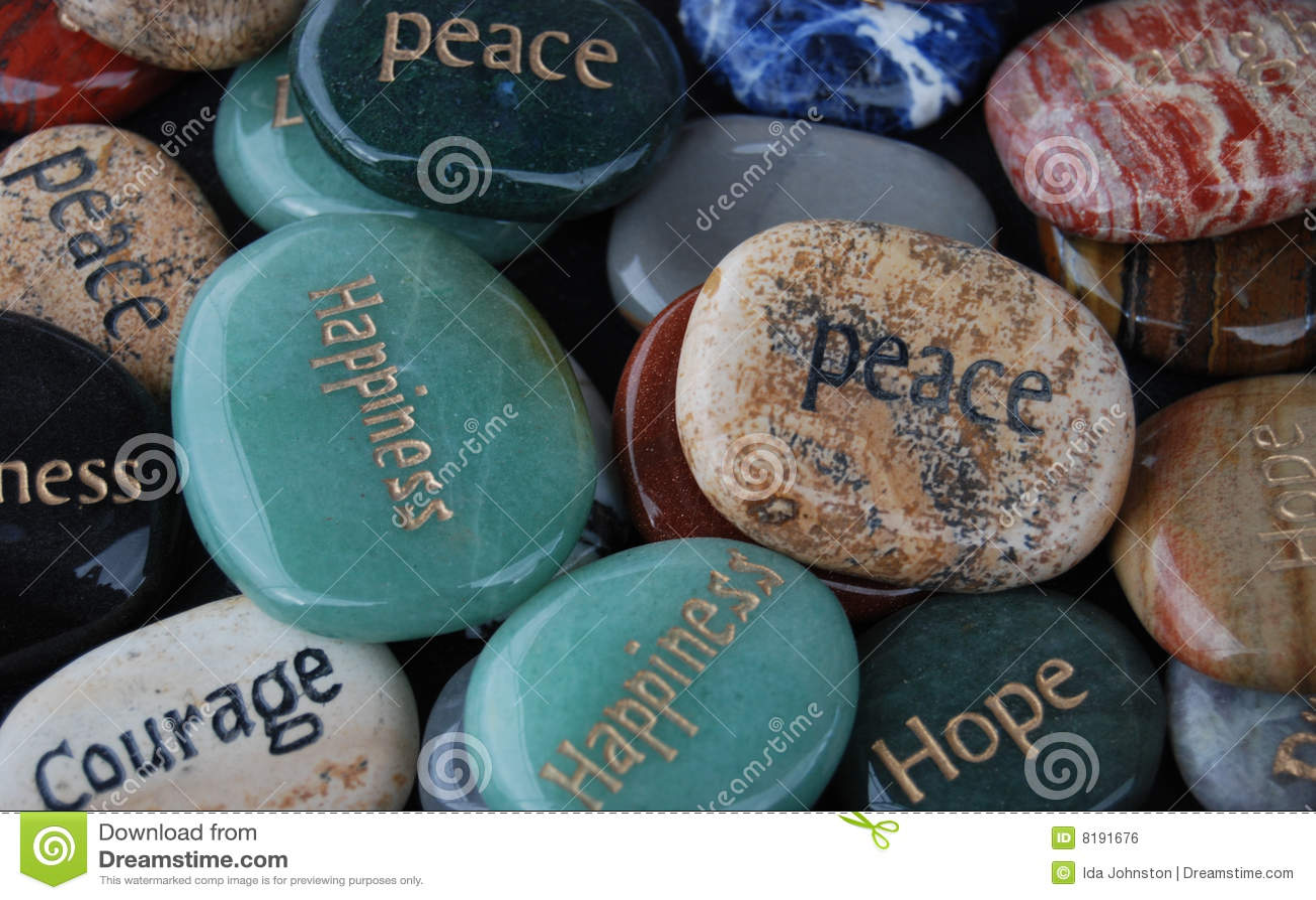 Stenar för hope för välsignelsekuragelycka