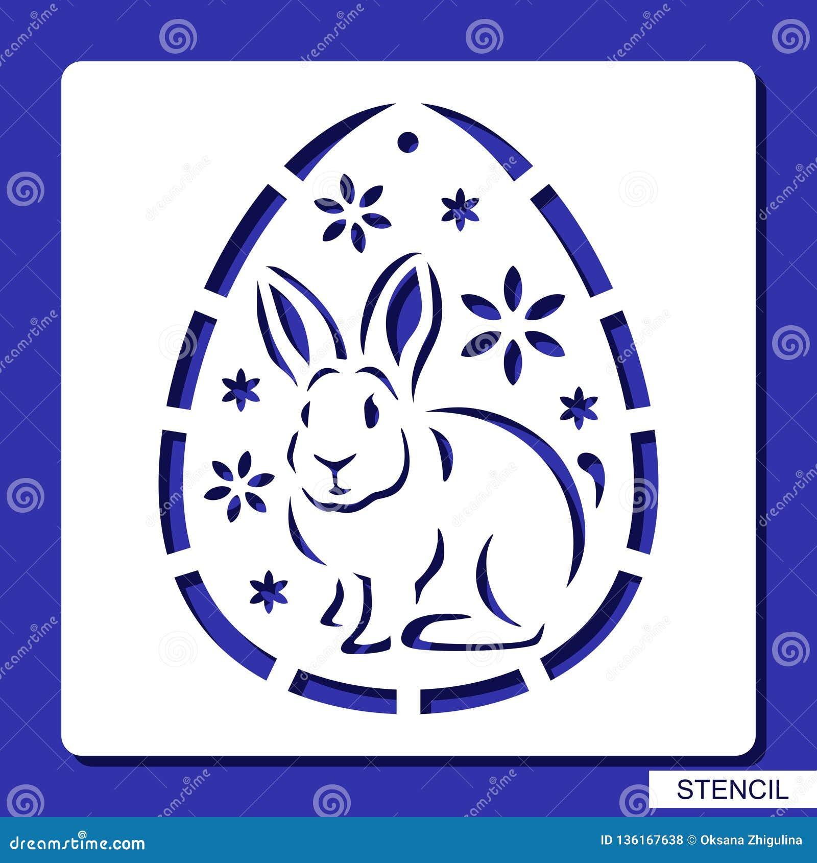 Stencil - Decorative Easter Egg. Stock Illustration ...