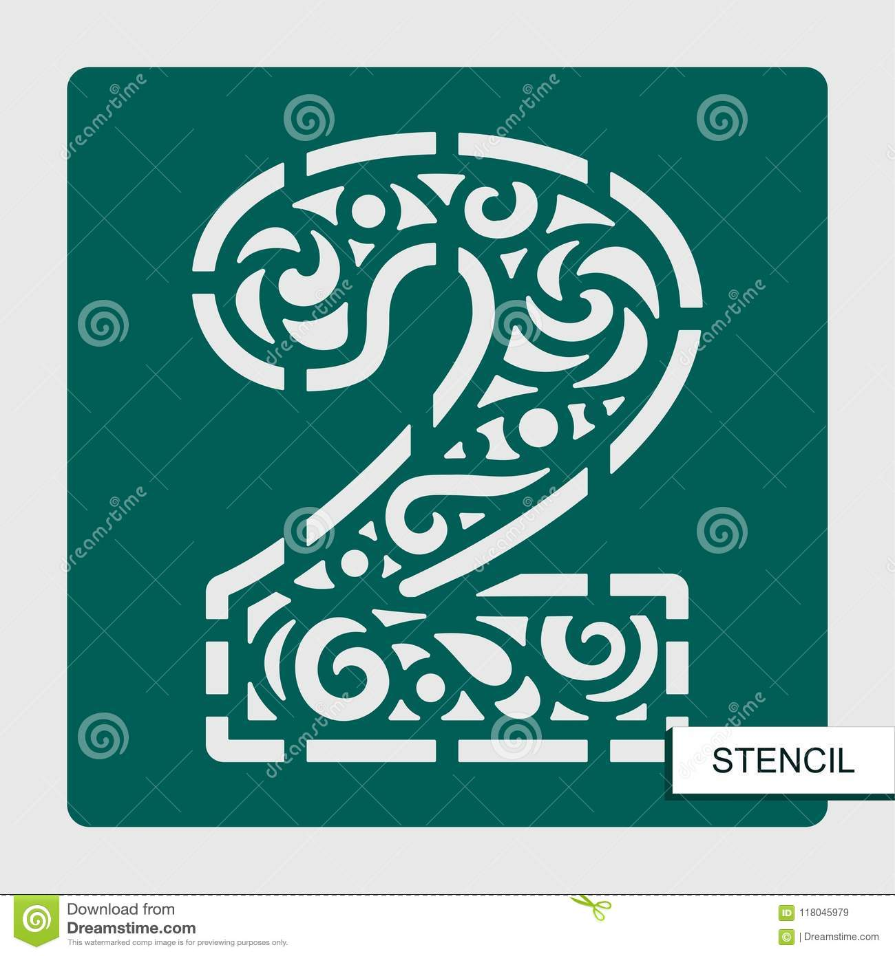Template For Laser Cutting Wood Carving Paper Cut And Printing Vector Illustration