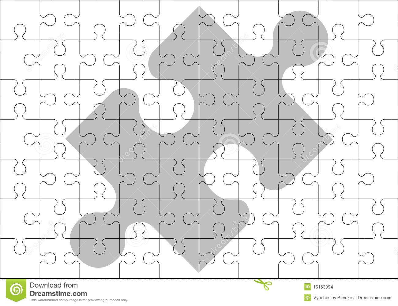 Stencil of puzzle pieces stock vector. Illustration of finishing ...
