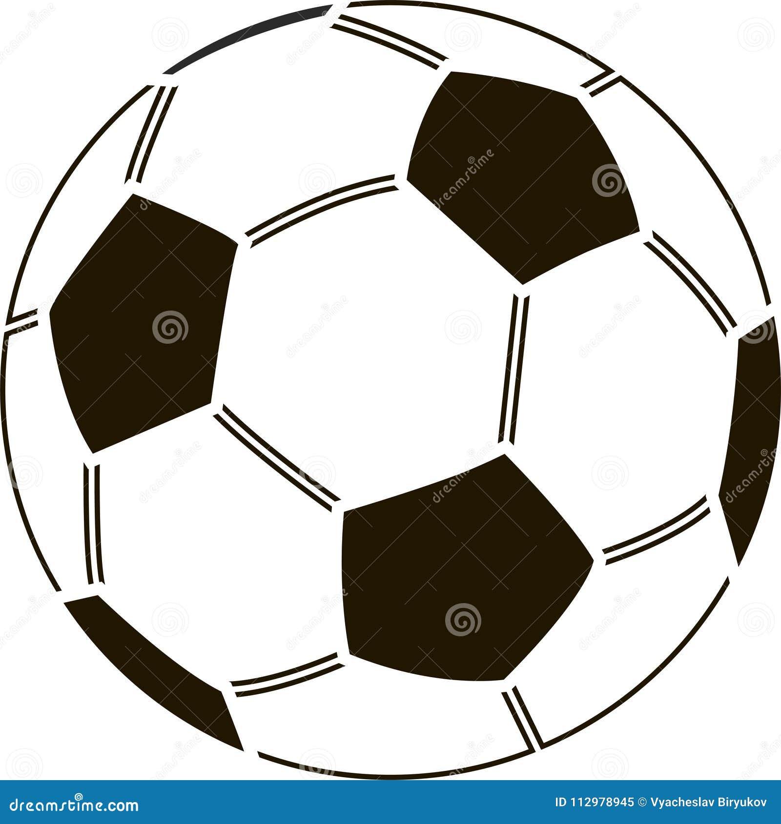 Stencil of soccer ball 2018