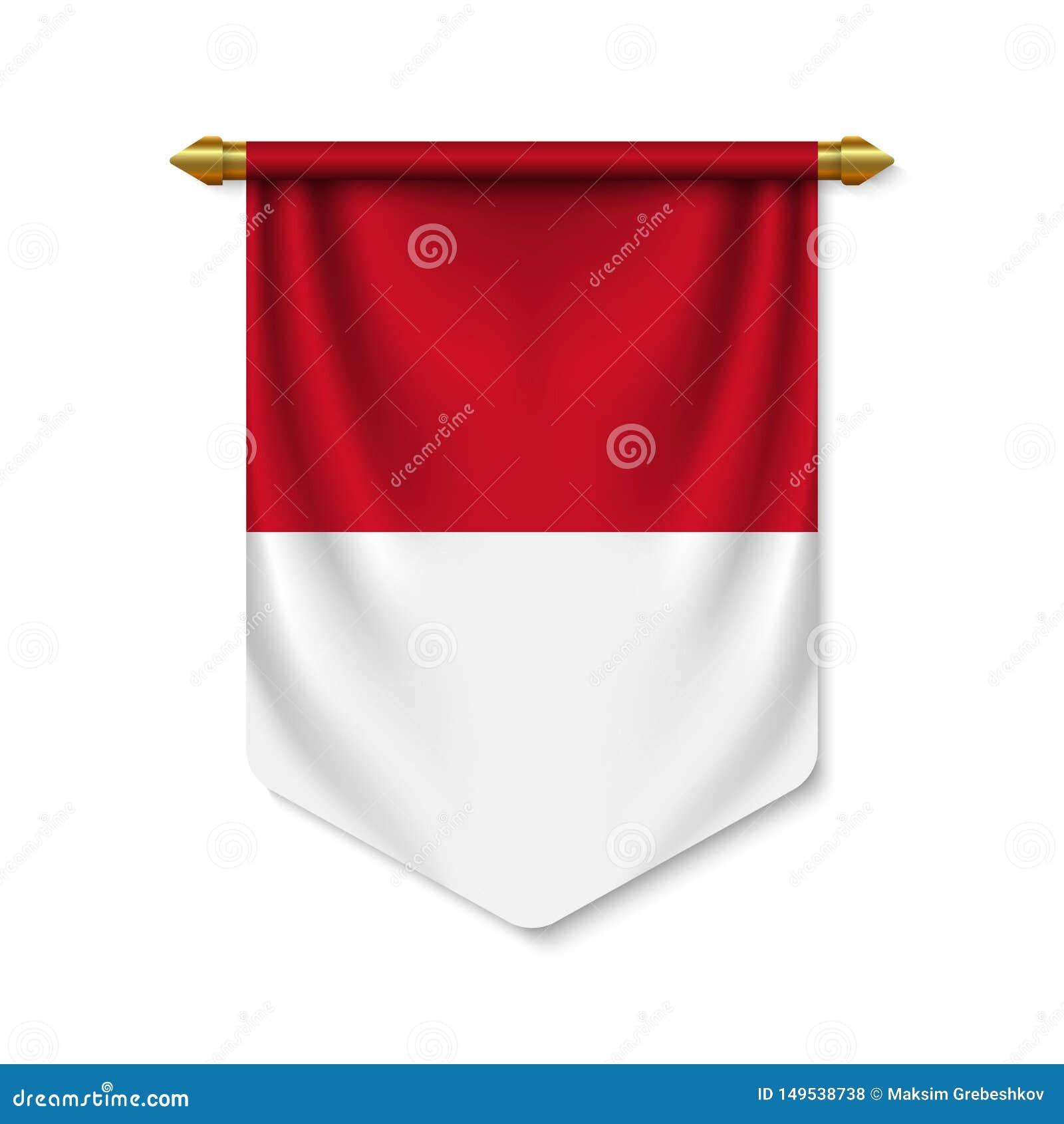 Stendardo realistico 3d con la bandiera