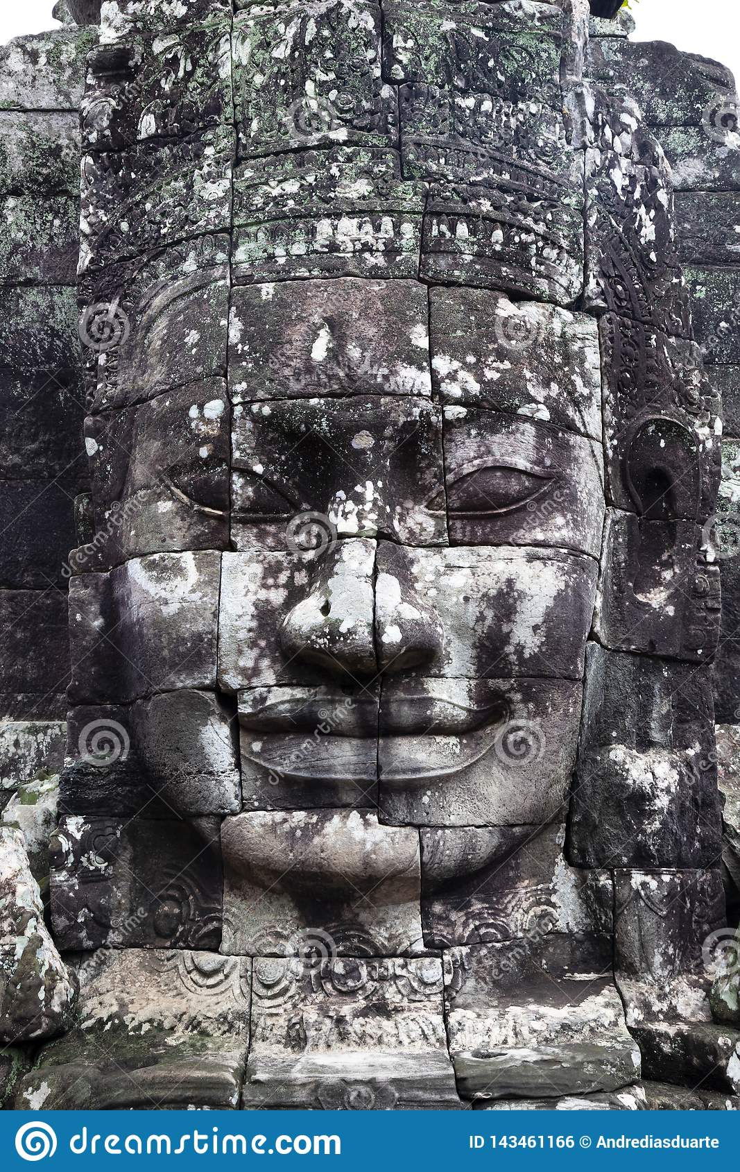 Stenframsida i Cambodja