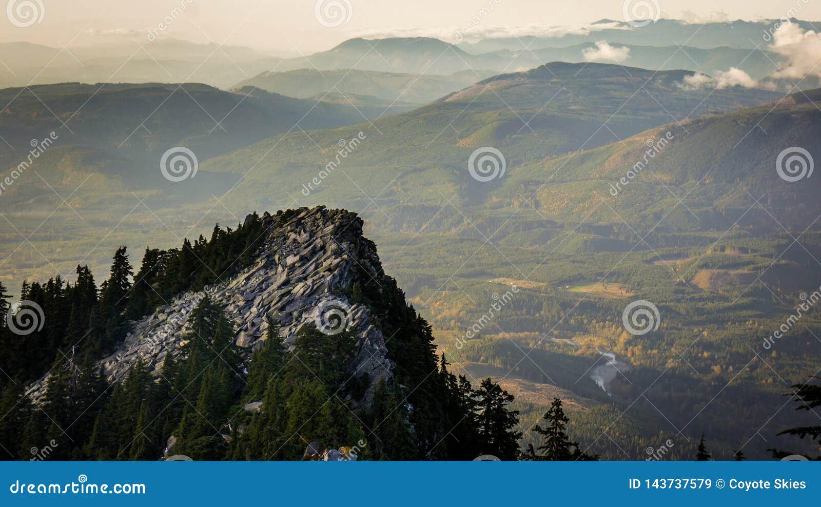 Stenigt maximum som är främst av skogar och kullar