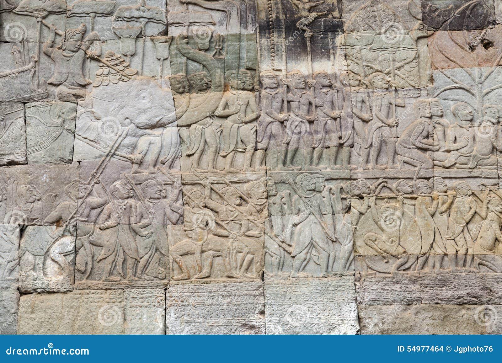 Stenlättnad på Angkor Wat