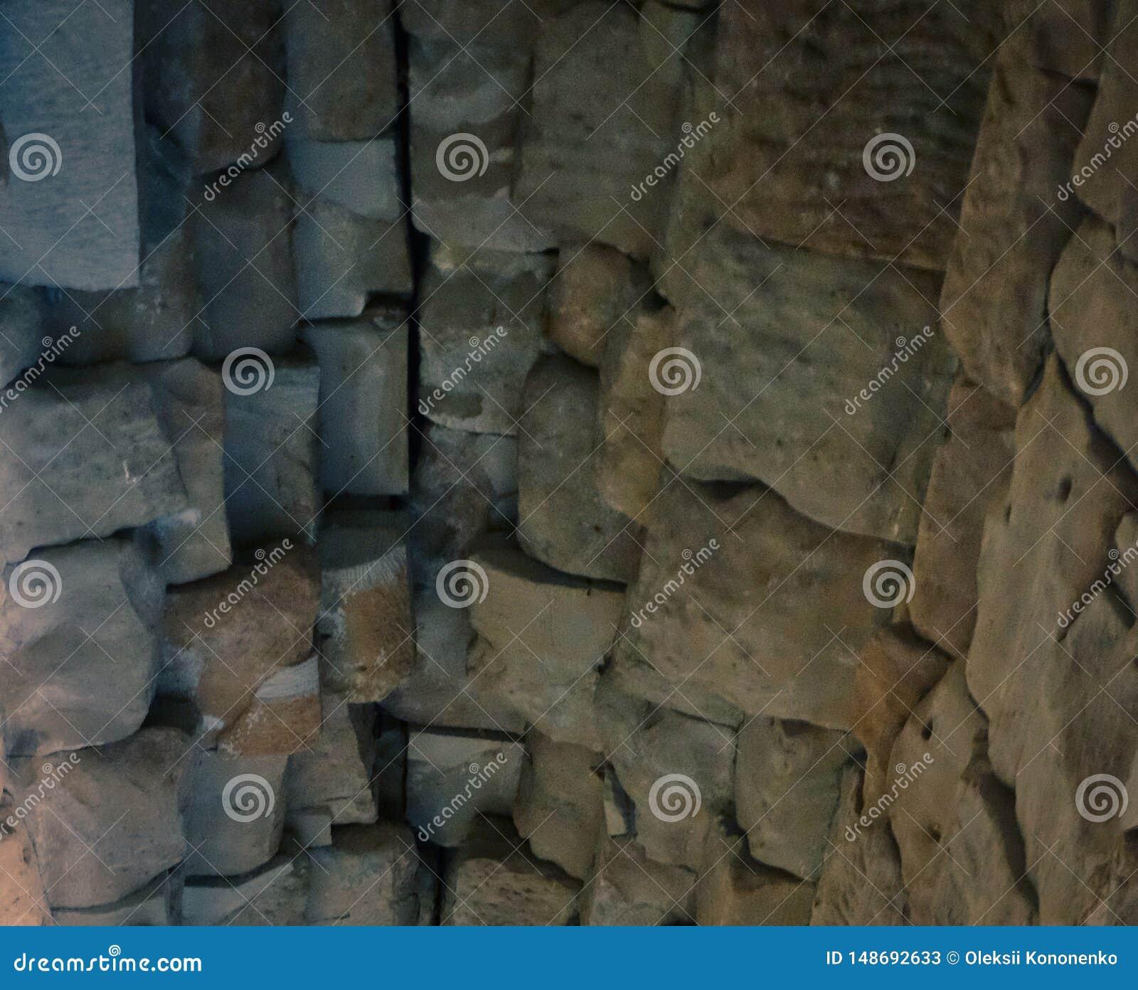 Stenvalv av en gammal byggnad Forntida stonework Bakgrund