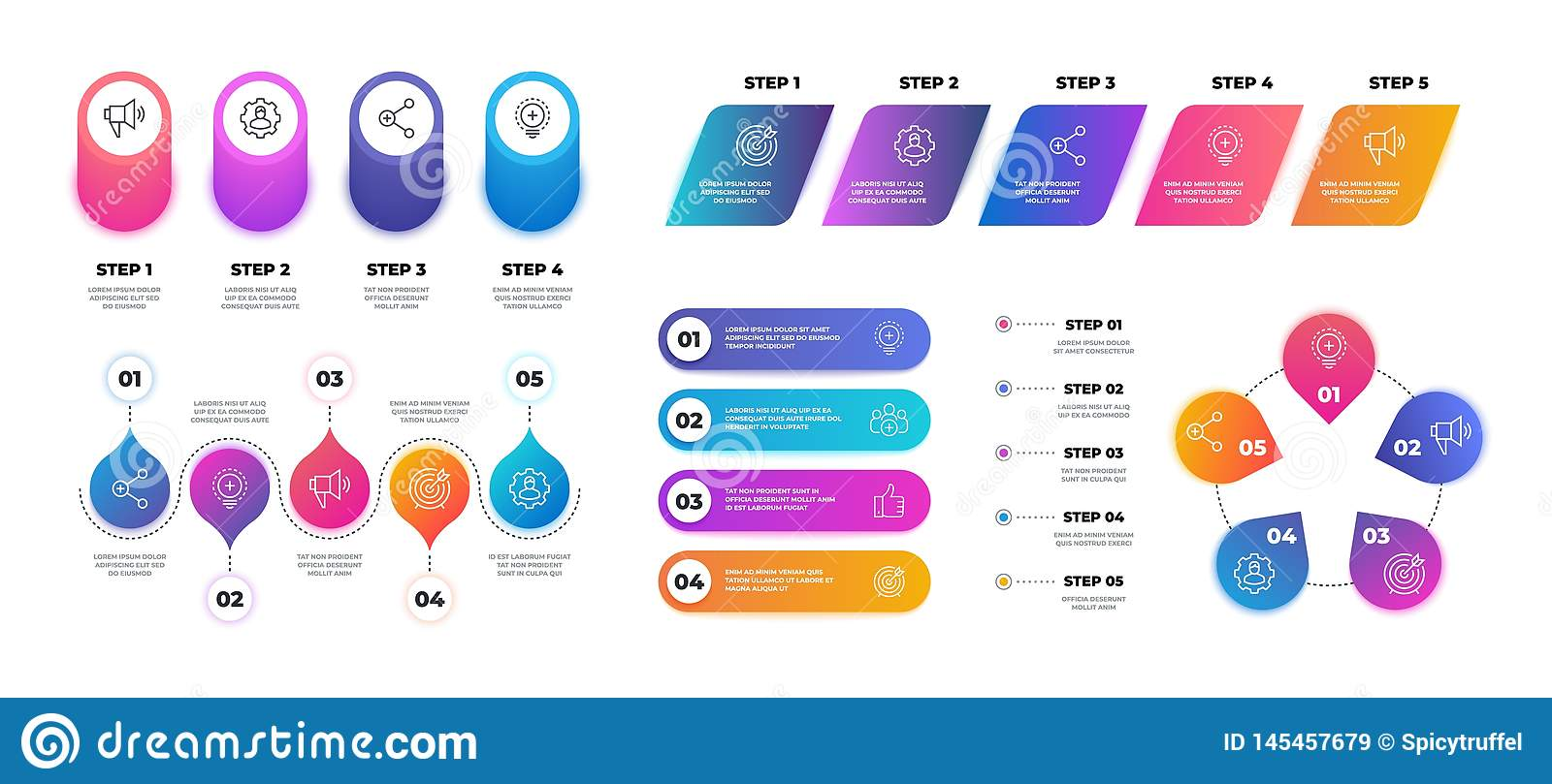 Step 3D infographic. Timeline graph chart, workflow business presentation template, flowchart structure. Vector