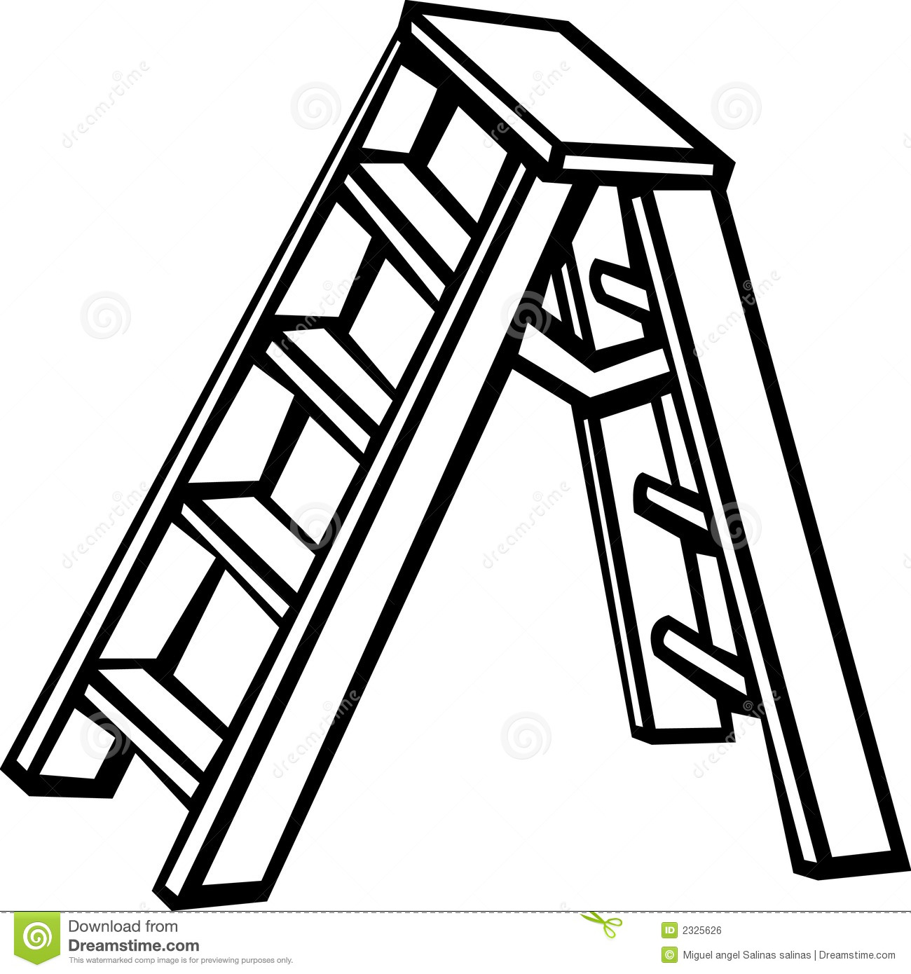 Step Ladder Vector Illustration Royalty Free Stock Image