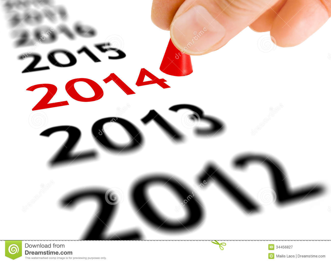 Download Step Into The New Year stock image. Image of forward - 34456827