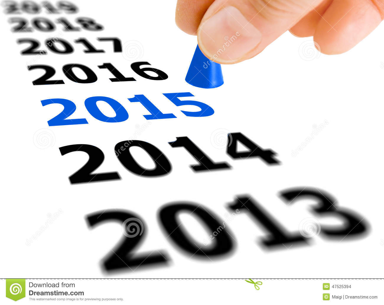 Download Step Into The New Year 2015 Stock Photo - Image of success, going: 47525394