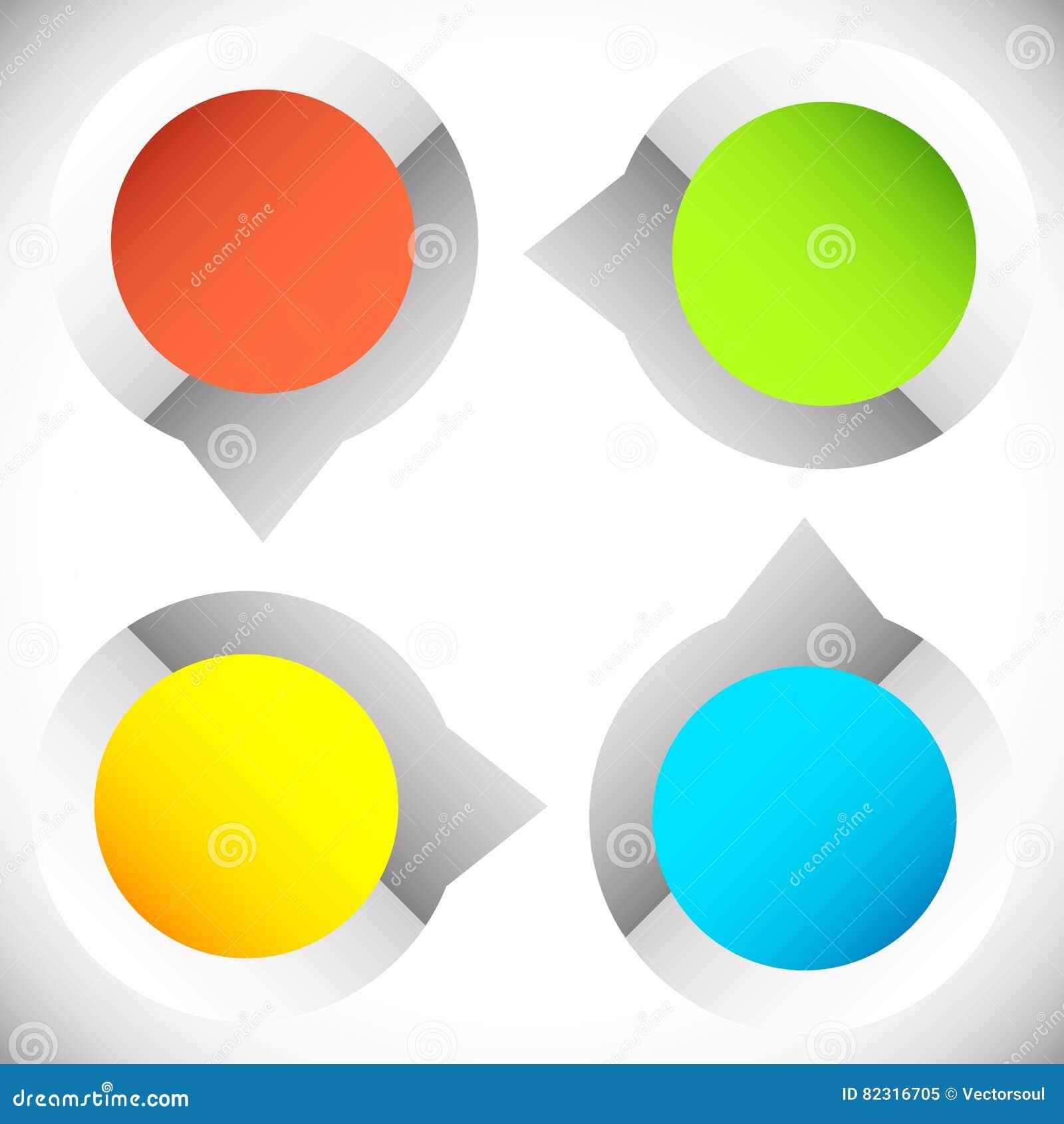 4-step presentazione circolare, elemento di infographics Progr ciclico