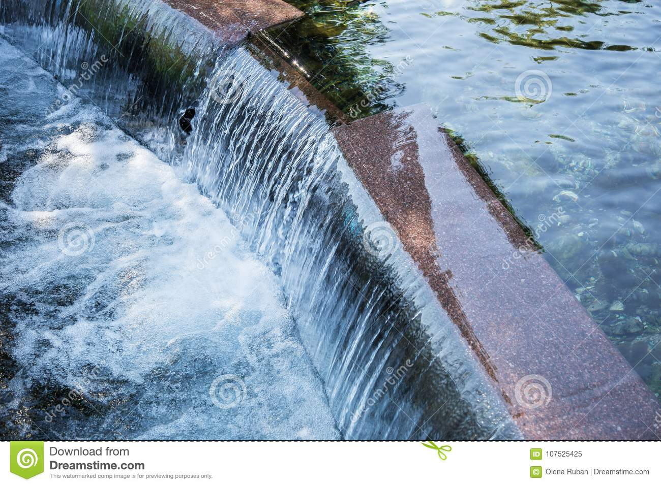 Step With Running Water Stock Image Image Of Motionblur 107525425