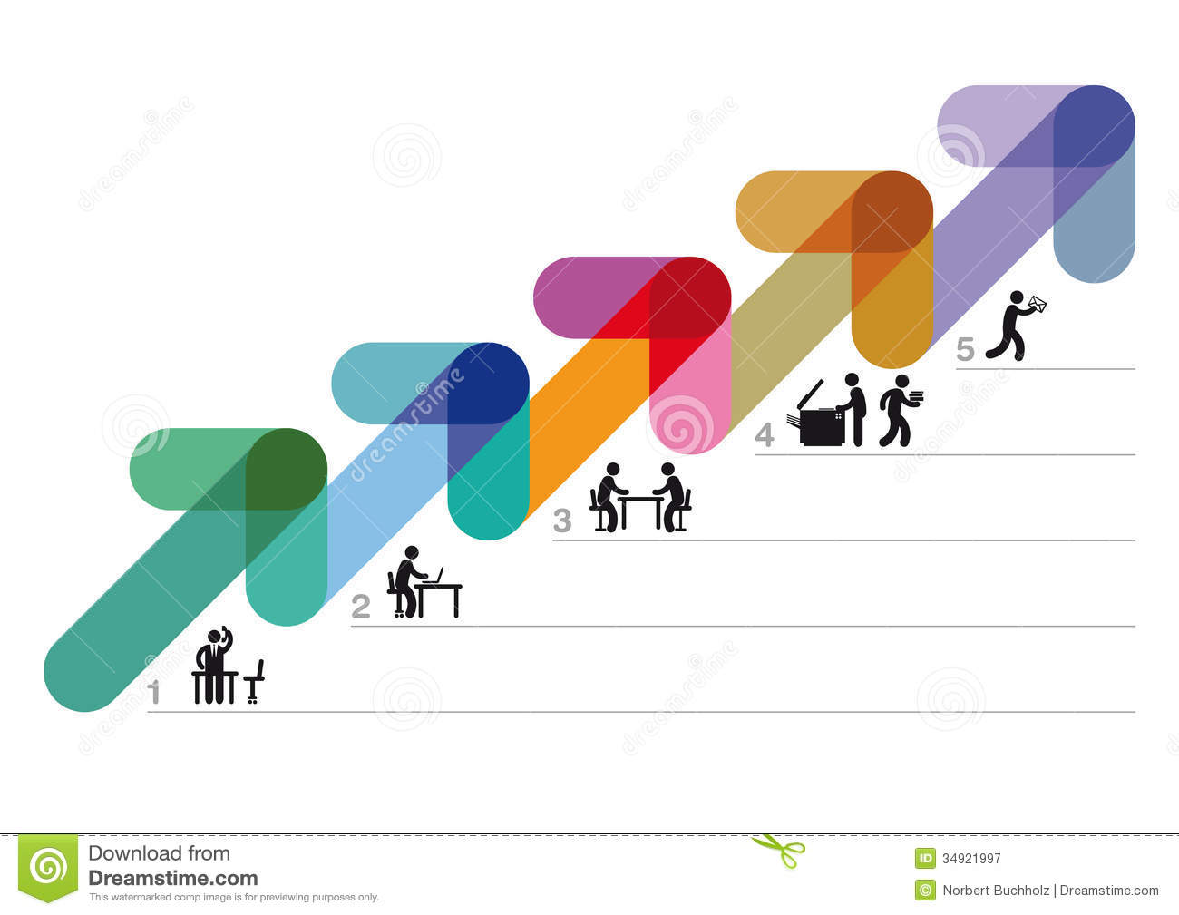 Step By Step Business Strategy Royalty Free Stock Photography Image 34921997