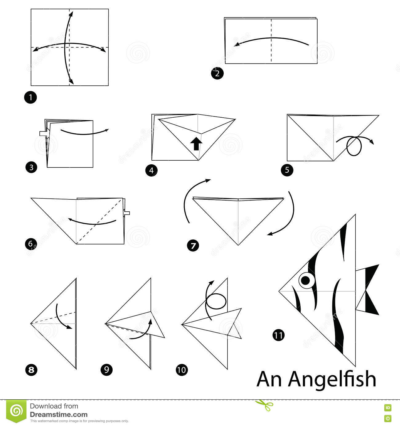 Step By Step Instructions How To Make Origami An Angelfish ... - photo#48