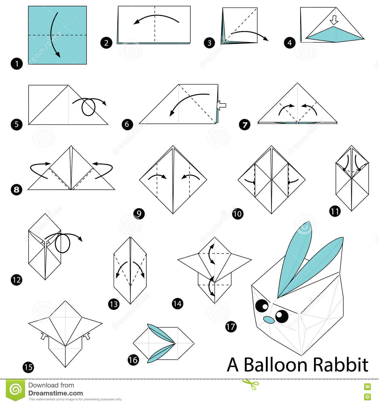 Step By Step Instructions How To Make Origami A Balloon ... - photo#36