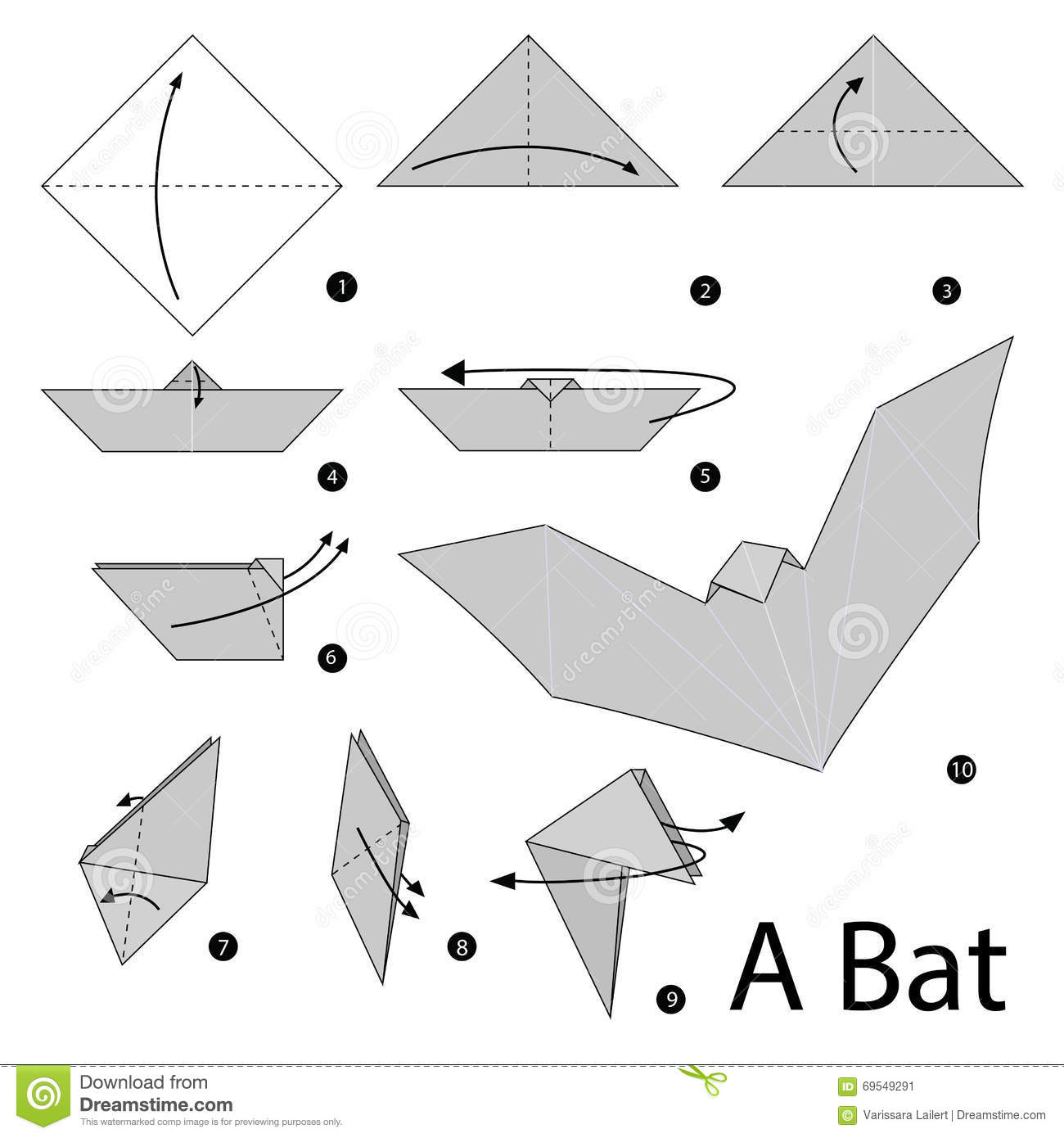 How To Make A Origami Spider Step By