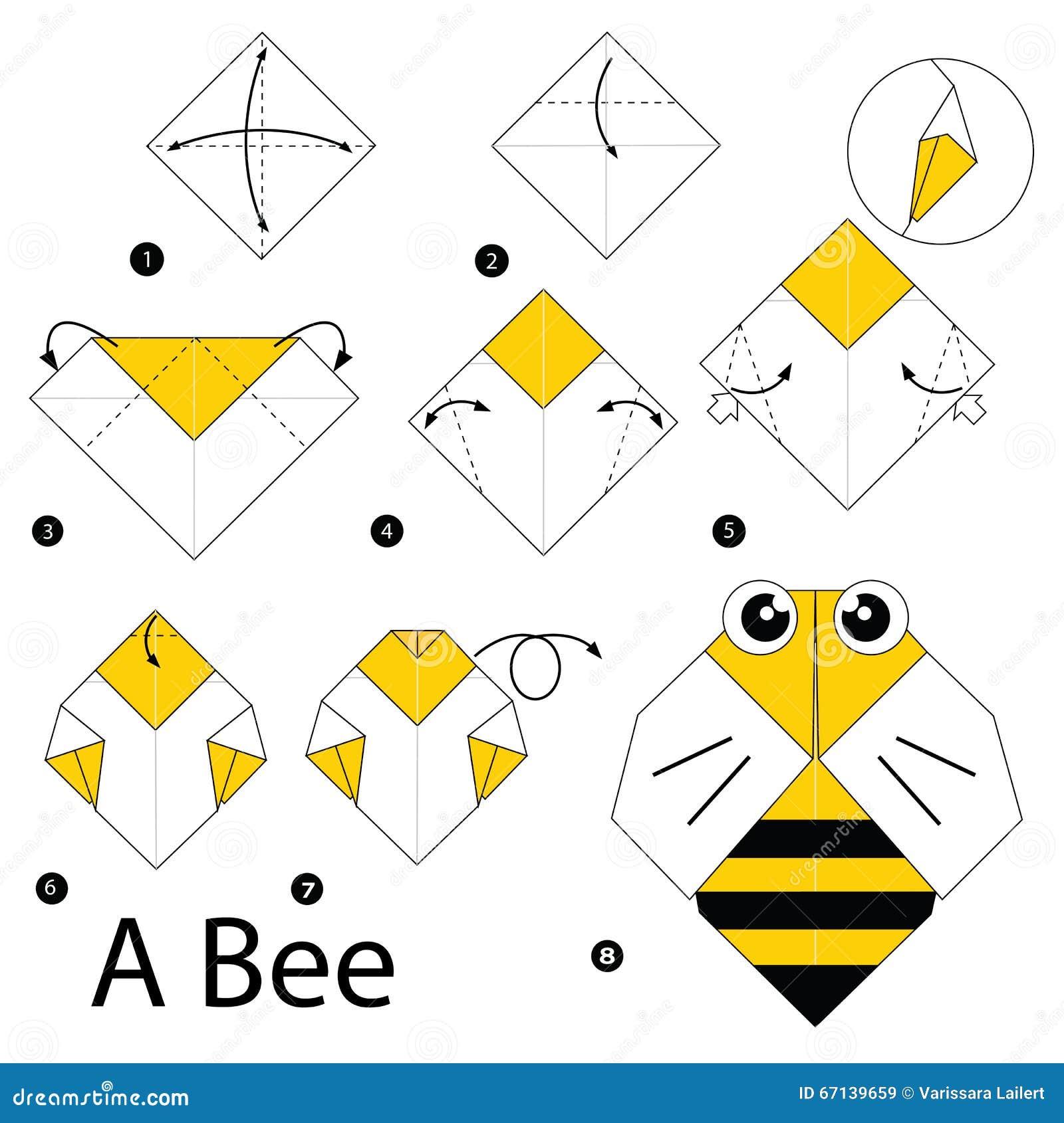 Оригами из бумаги для детей бабочка схема для