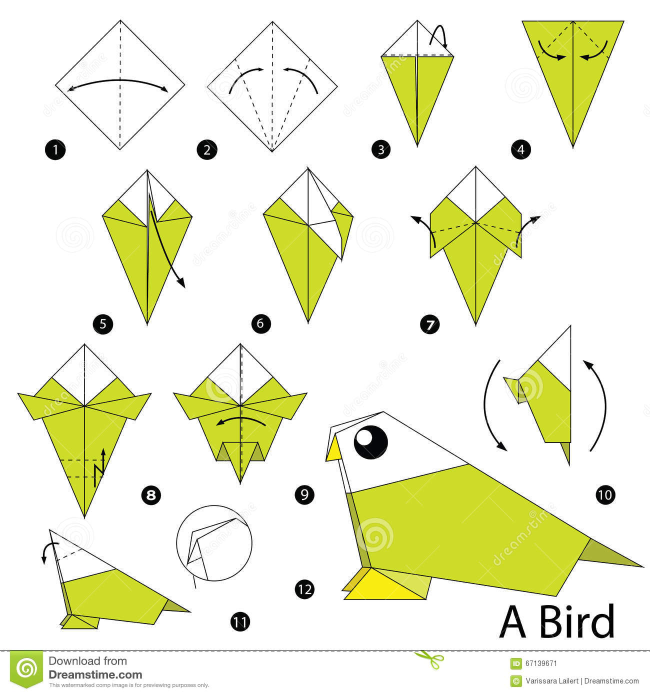 Step By Step Instructions How To Make Origami A Bird ... - photo#48