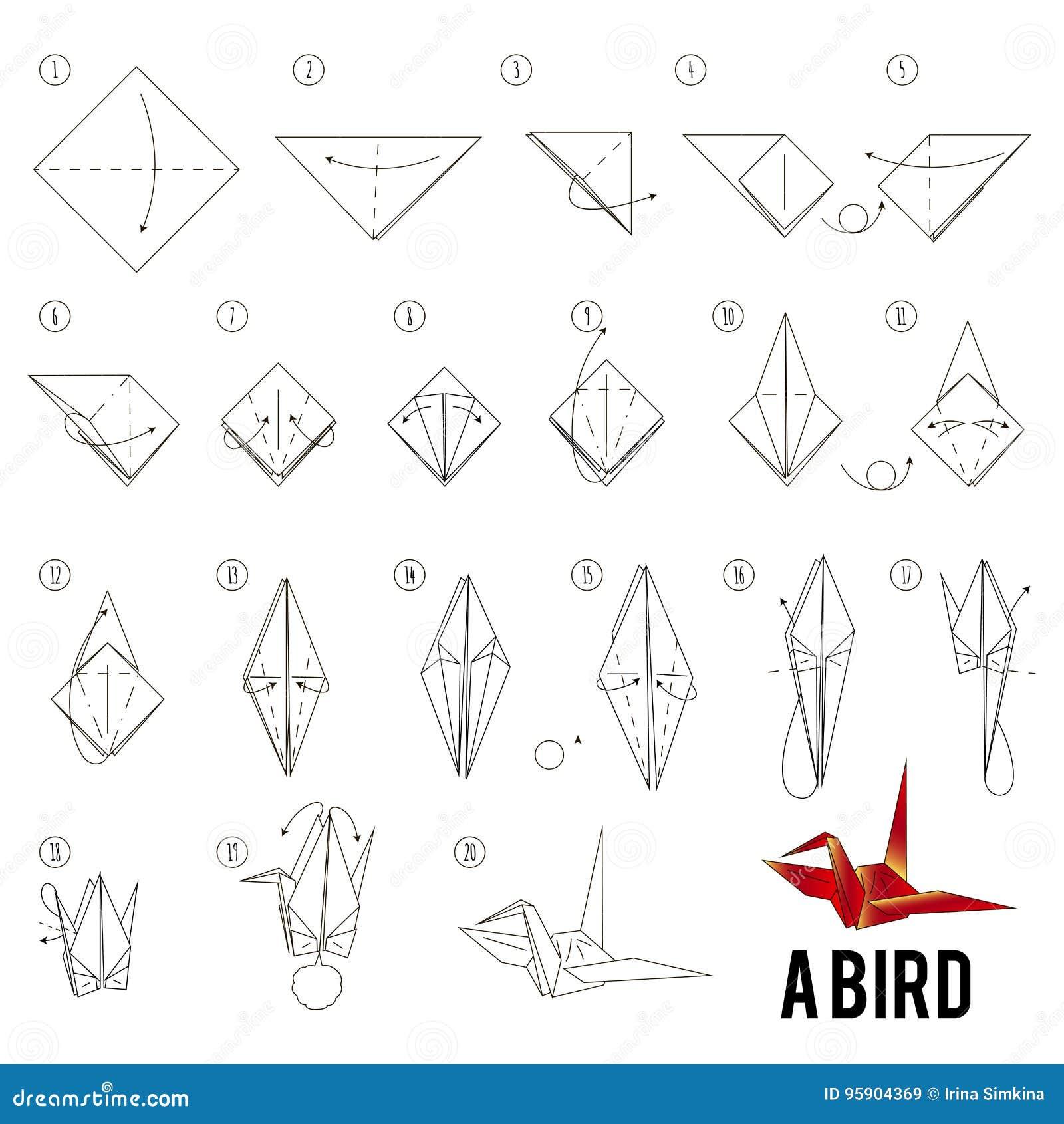 Épinglé par DIY by Anna Craft sur ORIGAMI TUTORIAL for kids ORIGAMI STEP BY STEP  instructions | Oiseau origami, Origami simple, Instructions d'origami | 1390x1300
