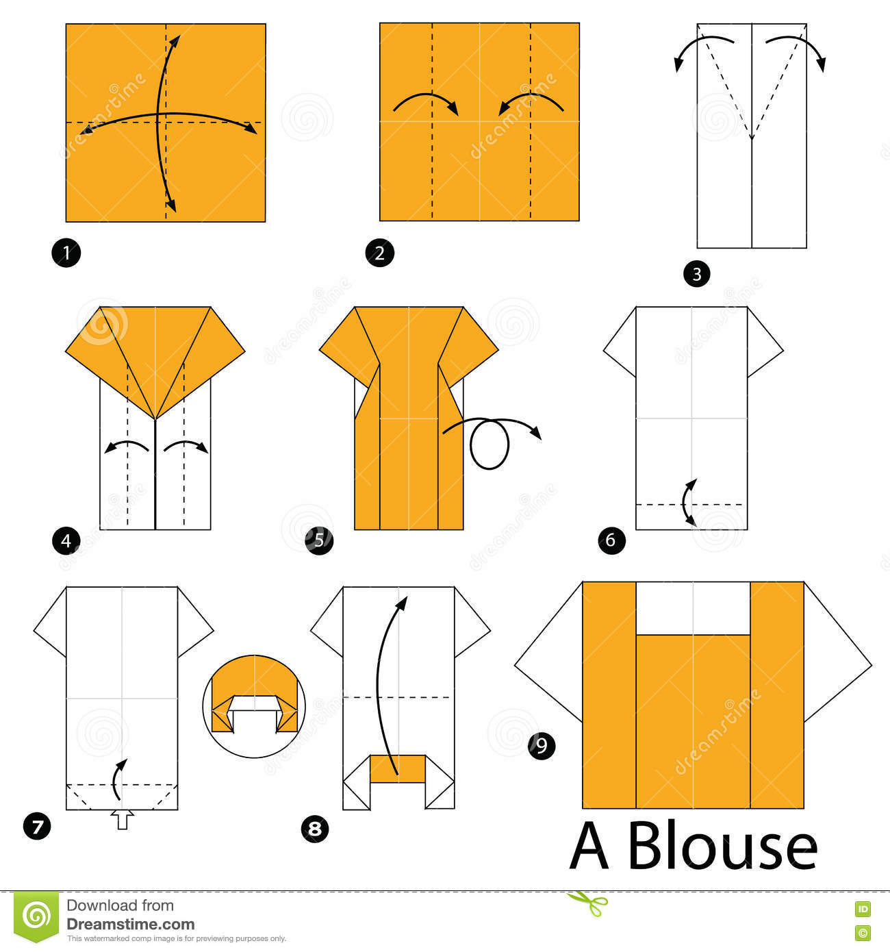 how to make paper shirts step by step tutorial
