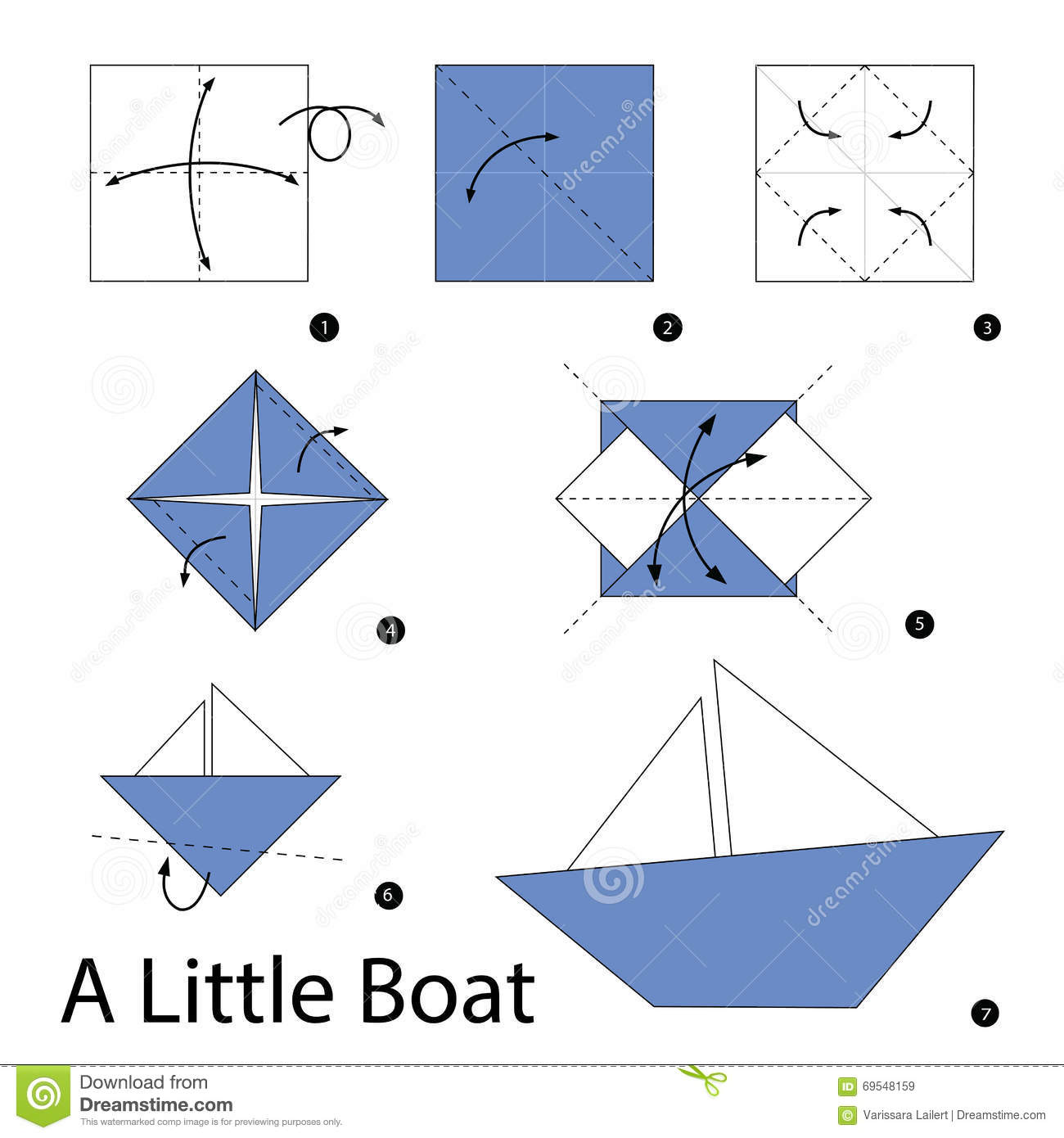 How to Make a Paper Boat Easy stepbystep video Totorials