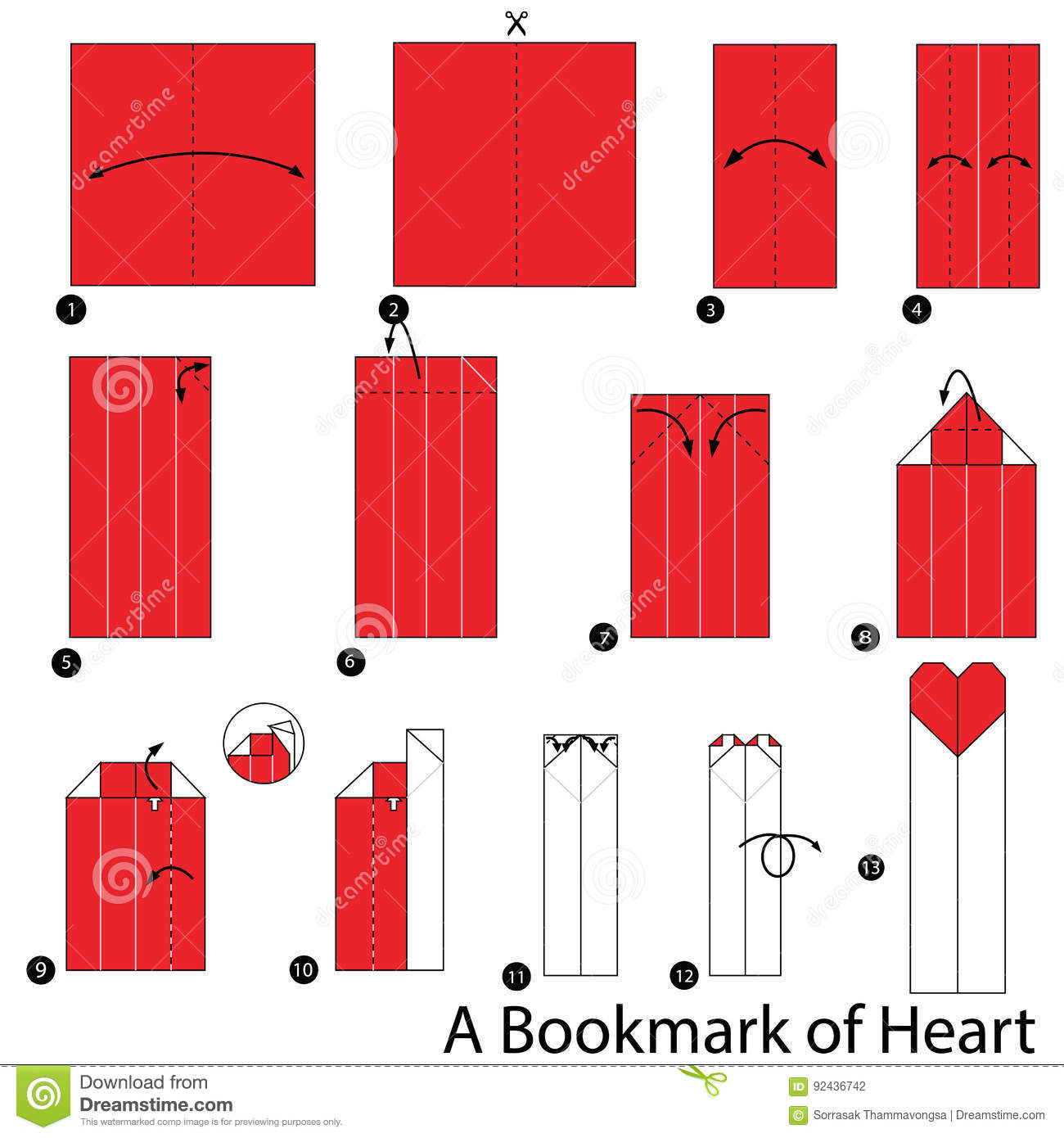 Origami Butterfly Bookmark Corner - Red Ted Art - Make crafting ... | 1390x1300
