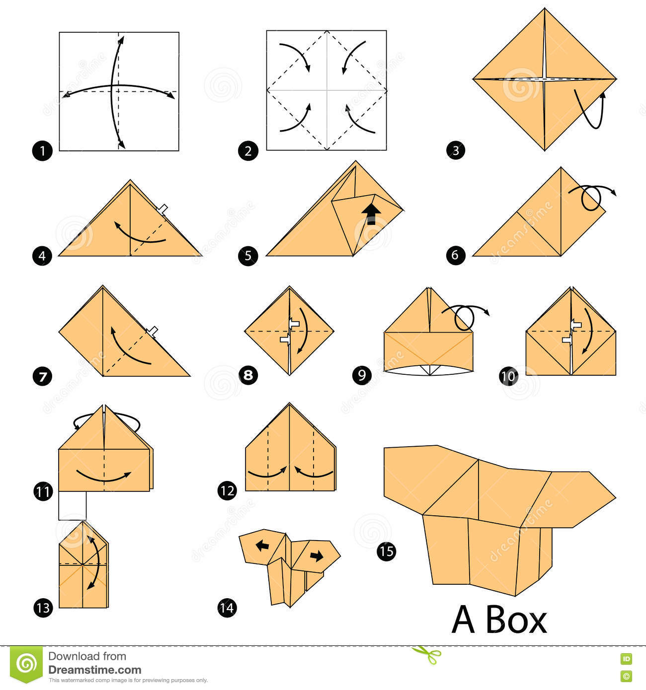 Step by step instructions how to make origami a box illustration step by step instructions how to make origami a box jeuxipadfo Images
