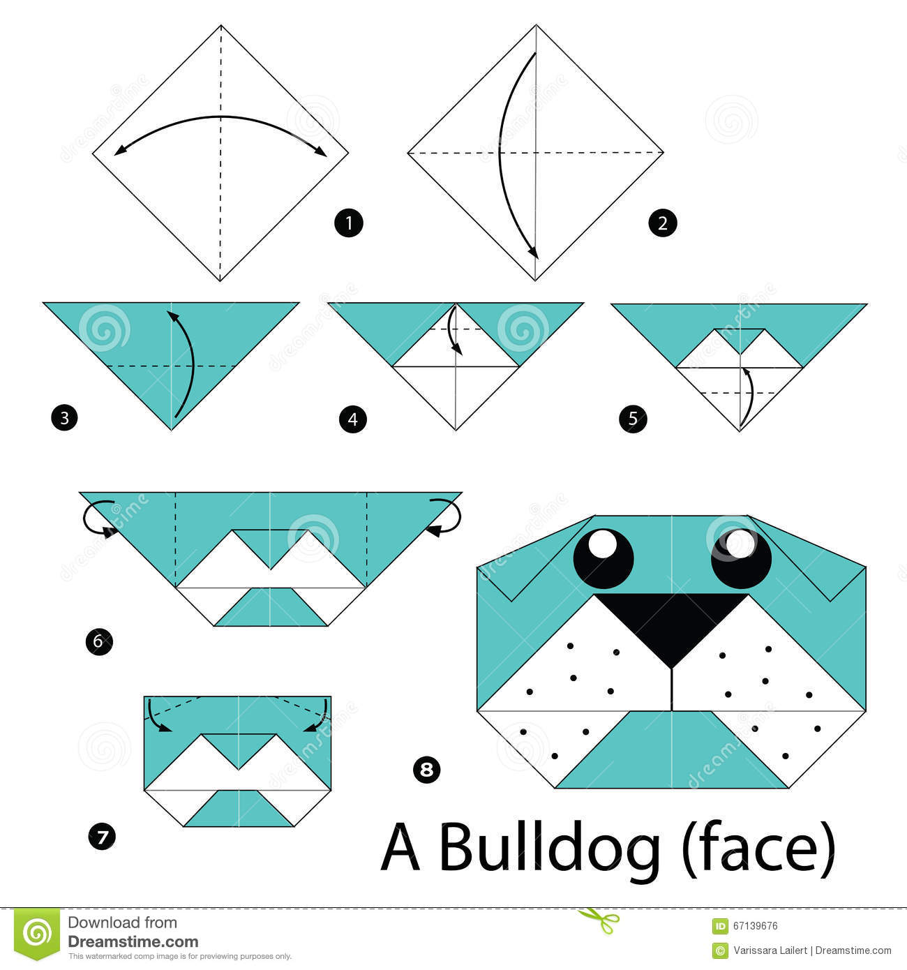 Step By Step Instructions How To Make Origami A Bulldog ...