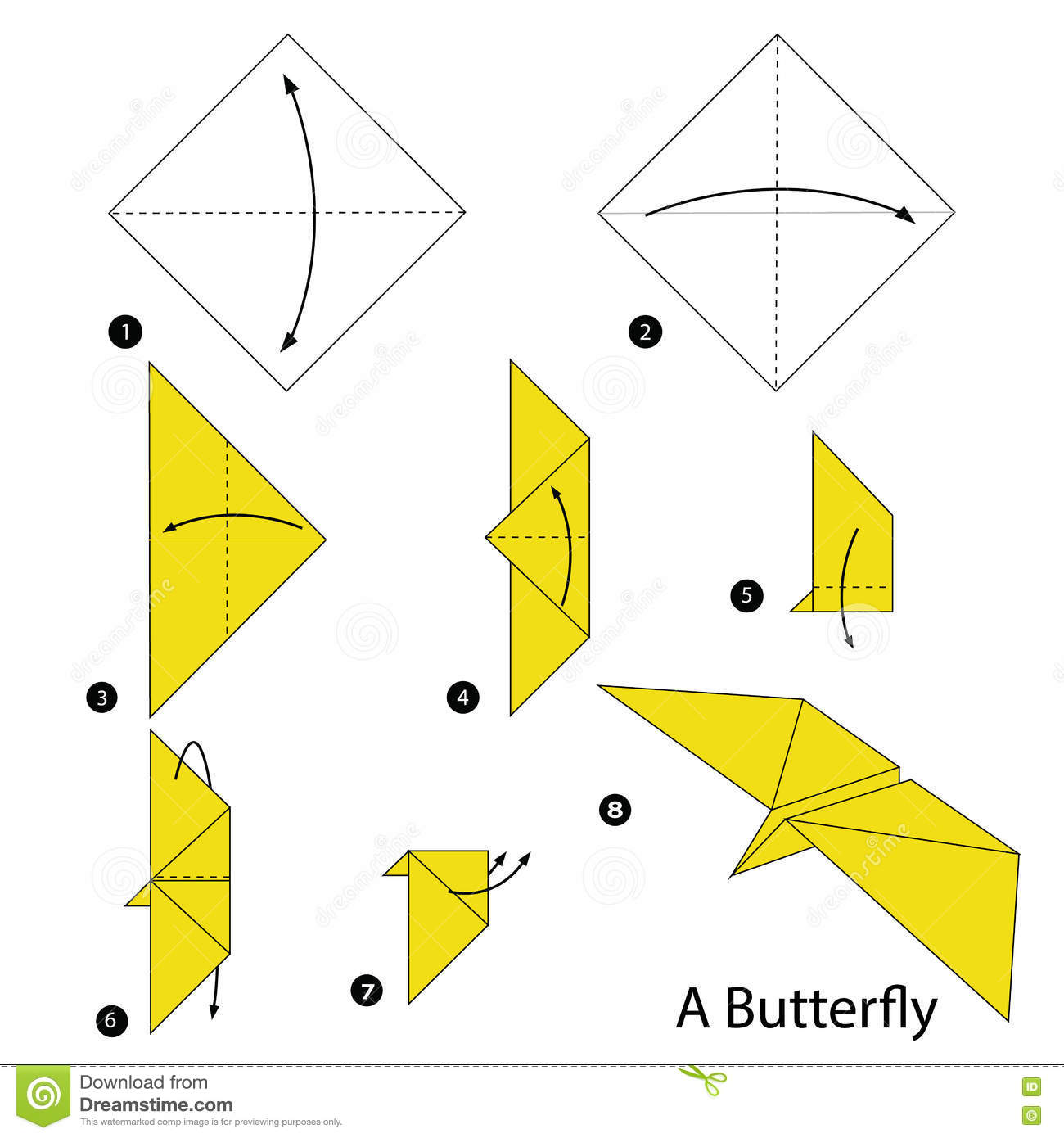 Step By Step Instructions How To Make Origami A Butterfly ... - photo#31