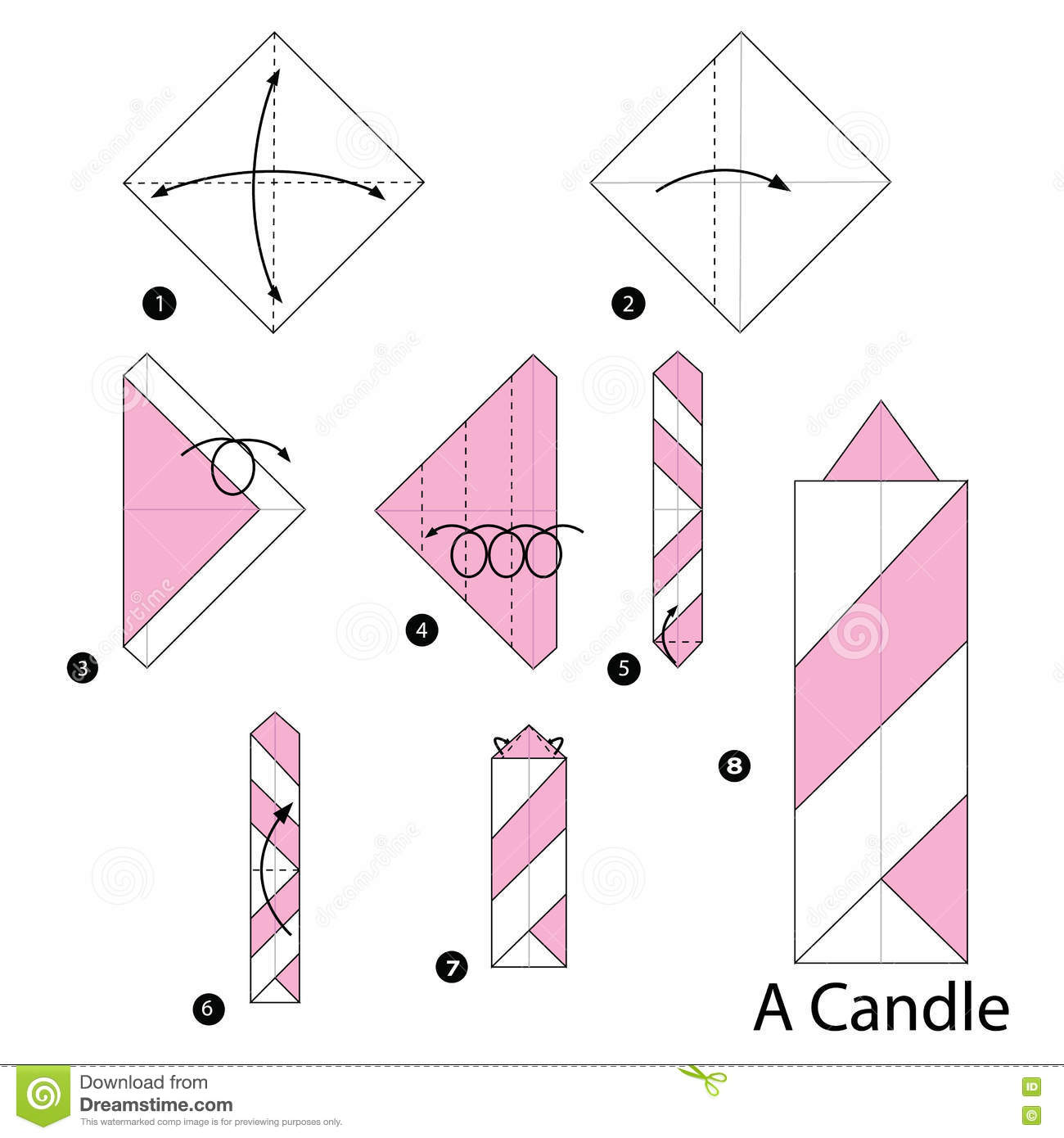 origami candle instructions tutorial origami handmade