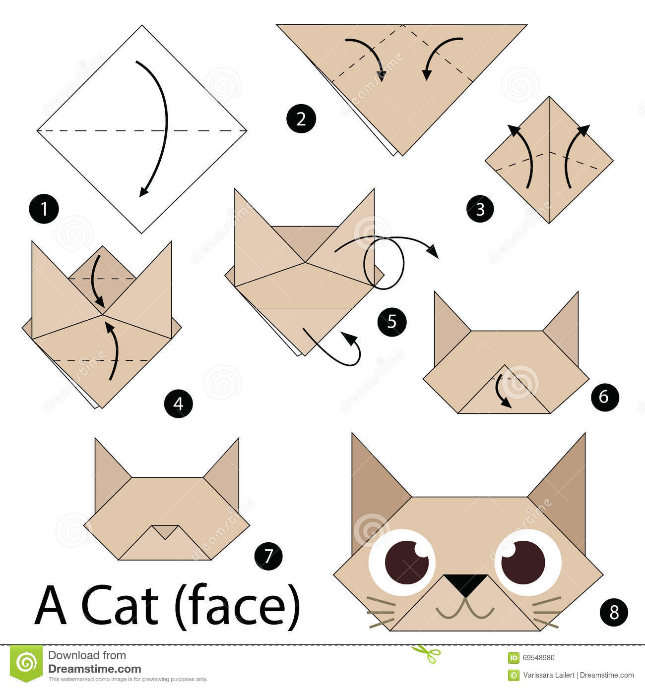 step by step origami cat 28 images origami cat step by