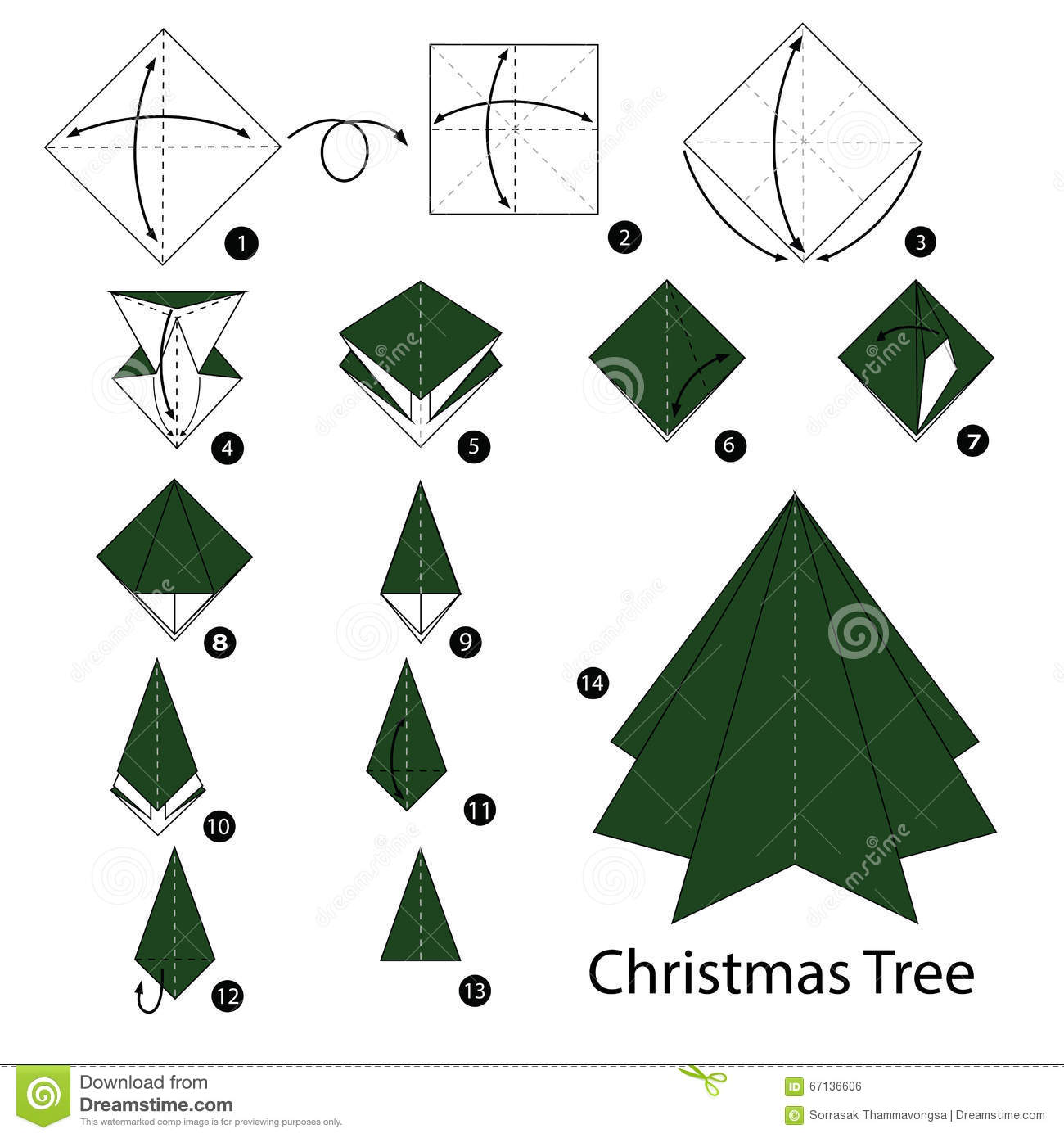 Christmas Tree Origami Stock Photos Image - amcordesign.us