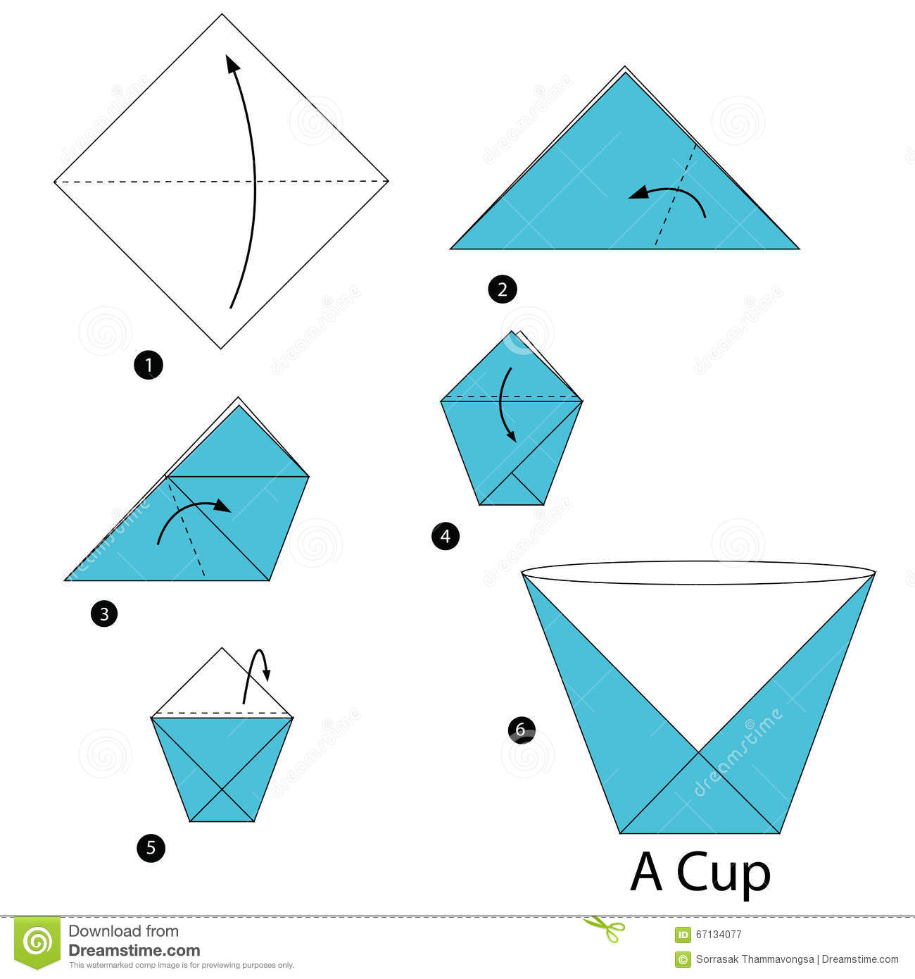 Step by step instructions how to make origami a cup stock vector step by step instructions how to make origami a cup jeuxipadfo Images