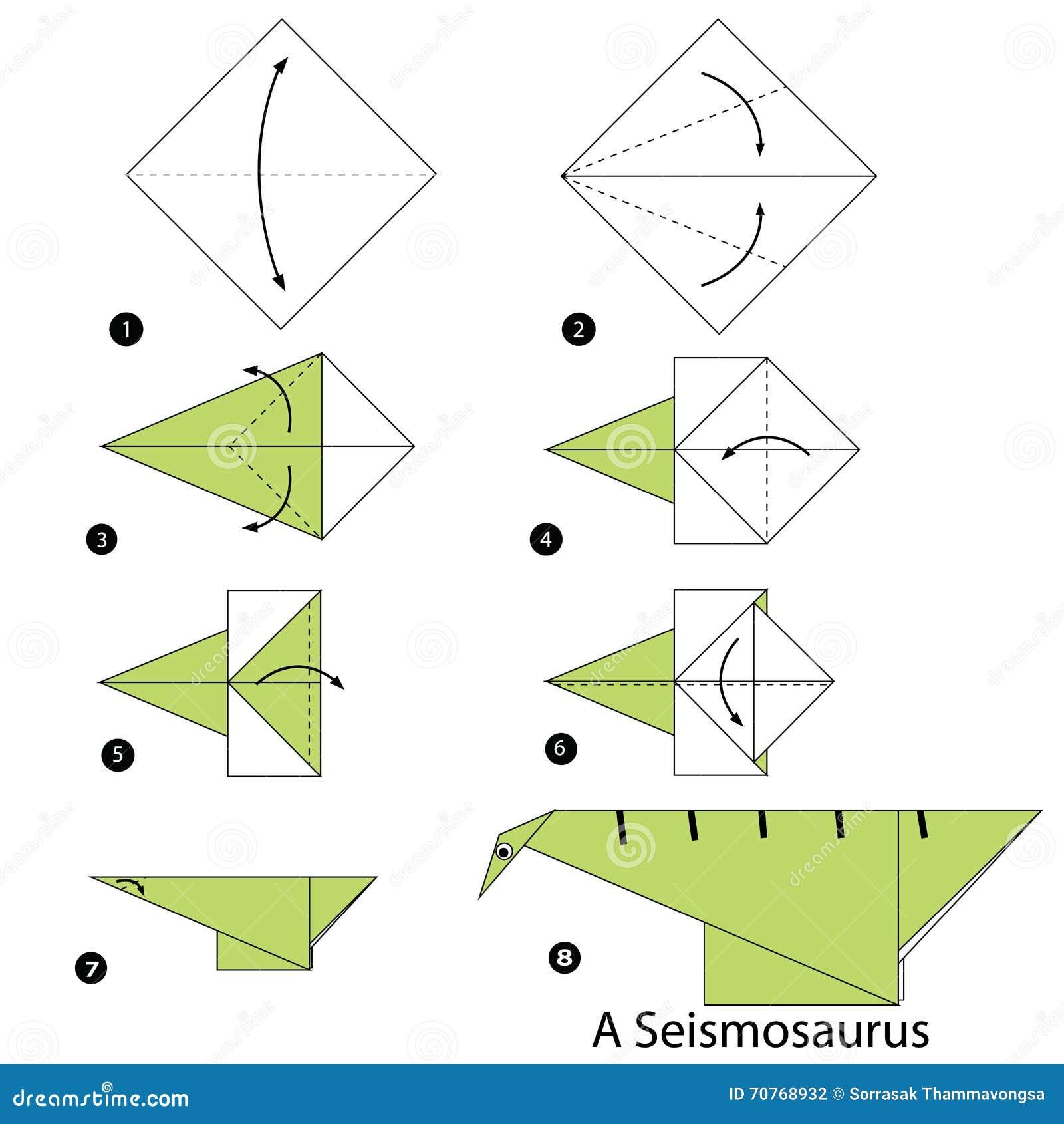 origami dinosaurs instructions tutorial origami handmade