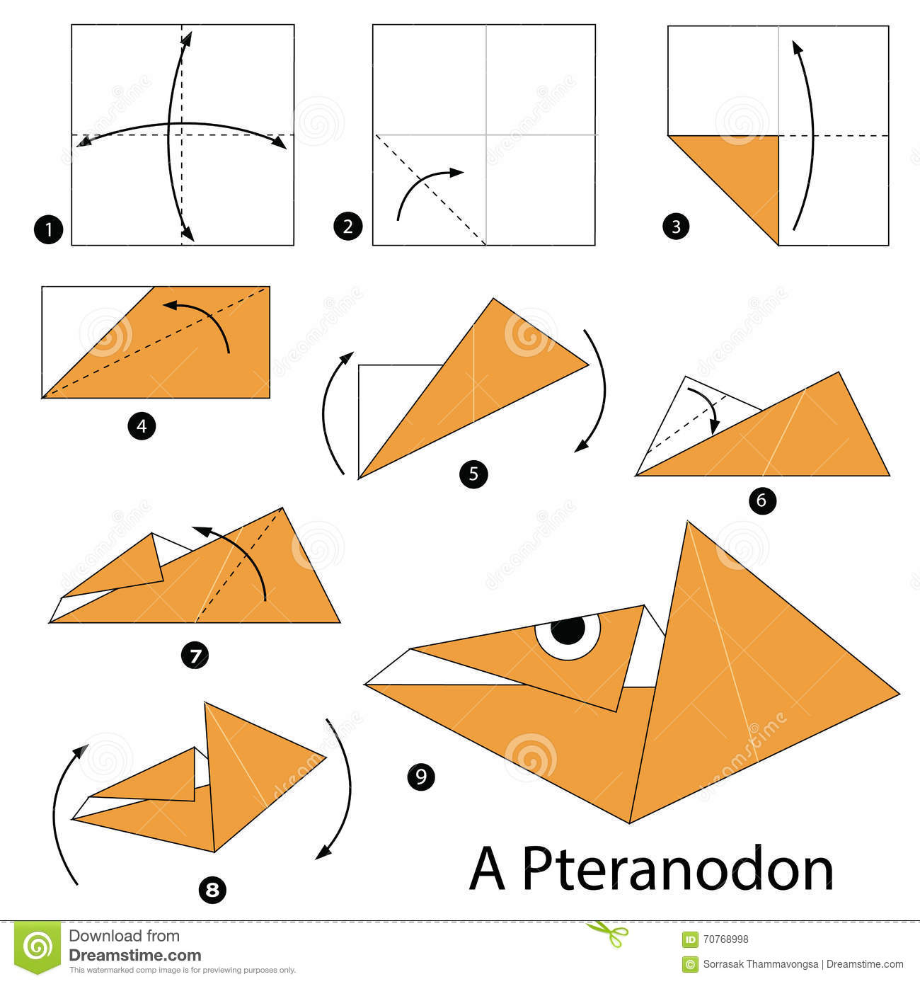 Step By Step Instructions How To Make Origami A Dinosaur ... - photo#31