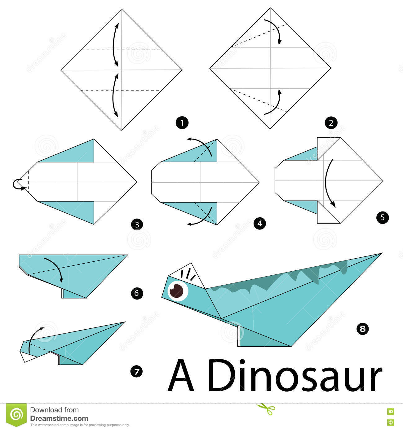 Step By Step Instructions How To Make Origami A Dinosaur ... - photo#33