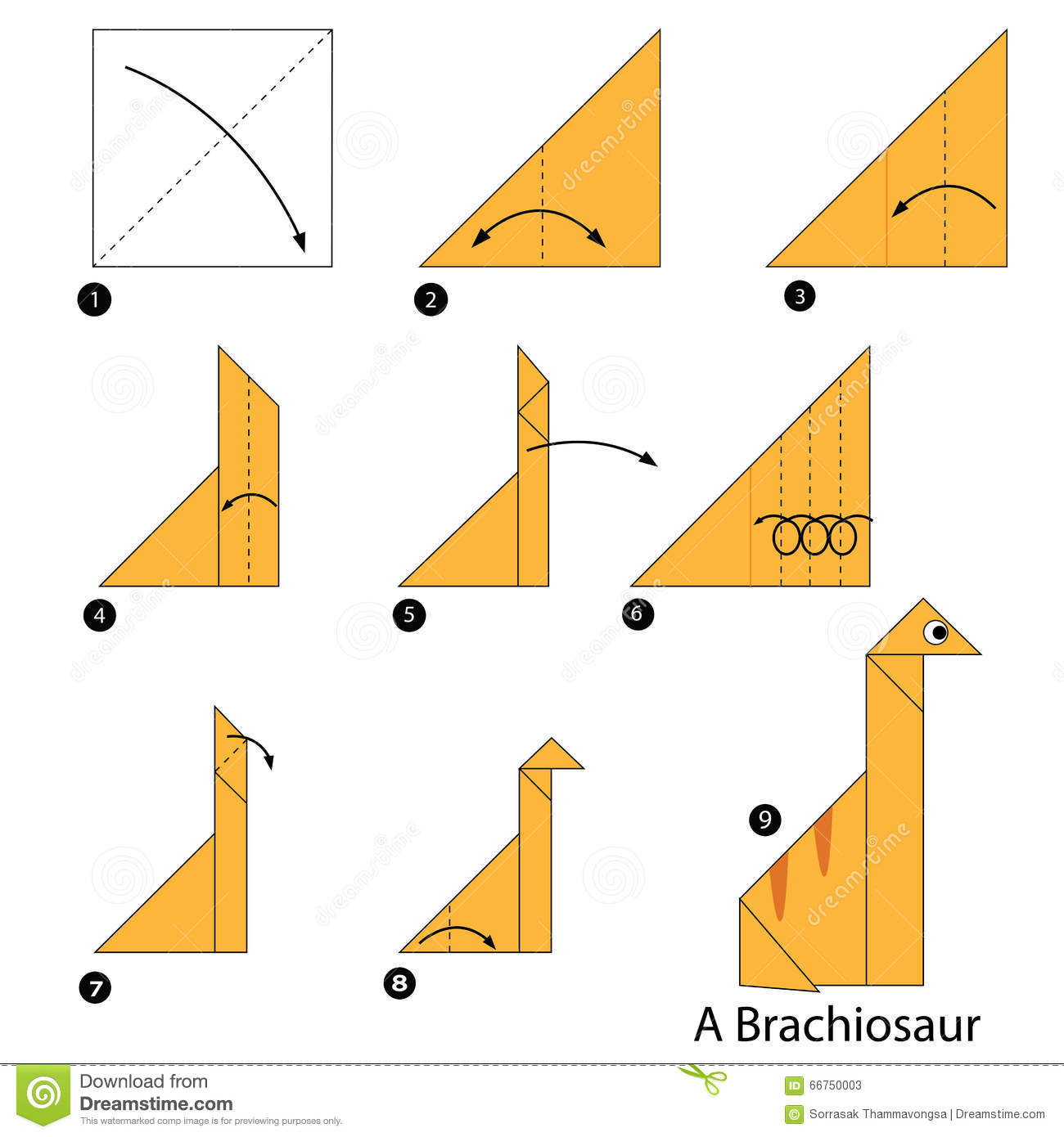 Magnificent Step By Step Instructions How To Make Origami A Dinosaur Stock Wiring Digital Resources Remcakbiperorg