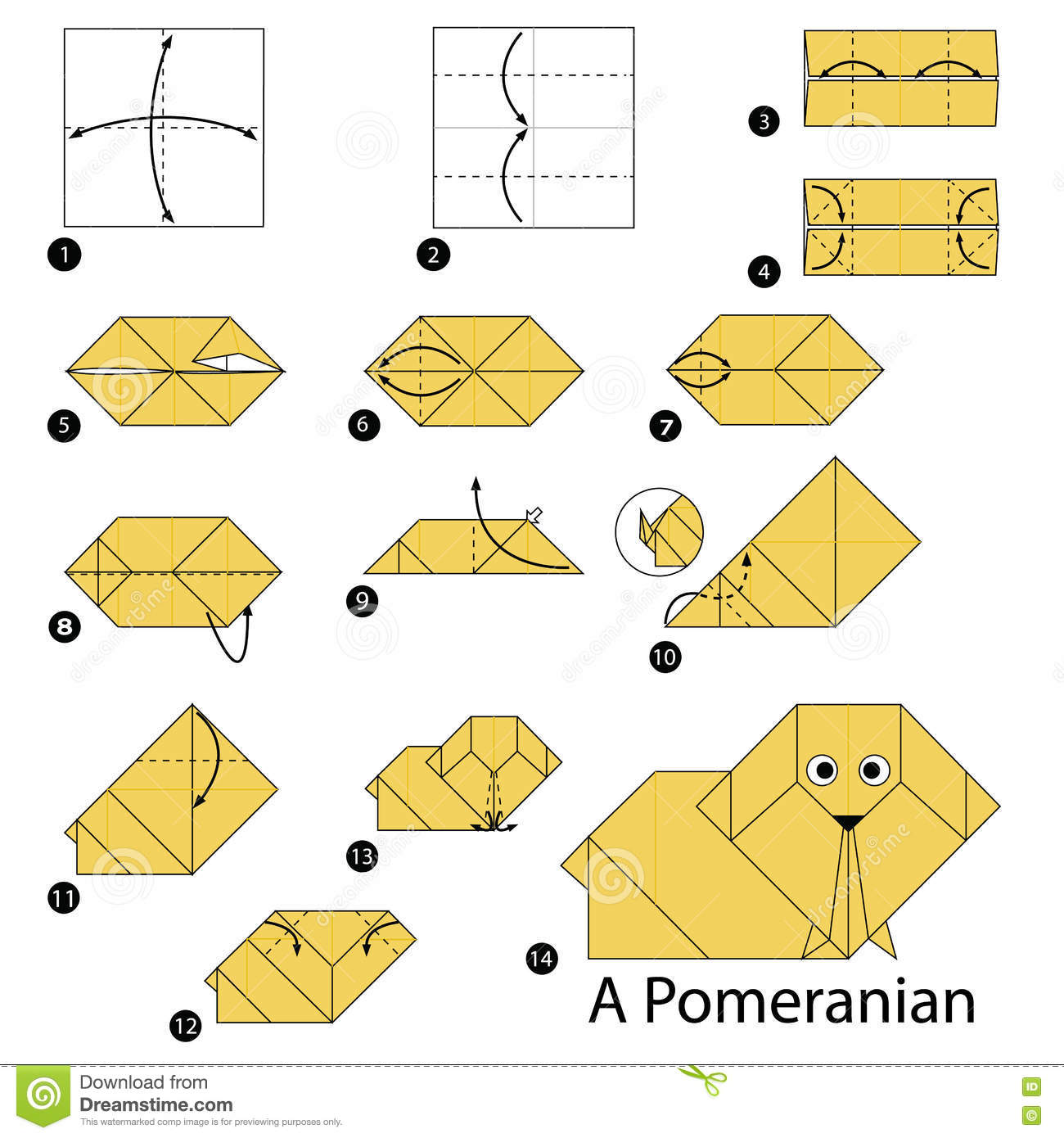 Origami dog face how to origami - Another Paper Origami Dog Face Images You Might Like