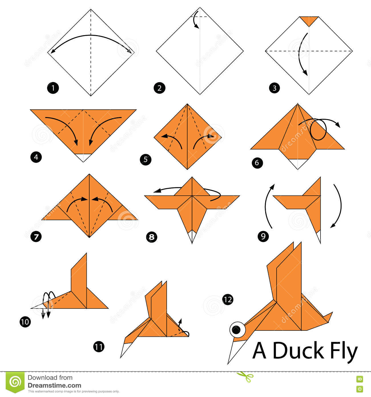 Easy To Make Origami Dinosaur