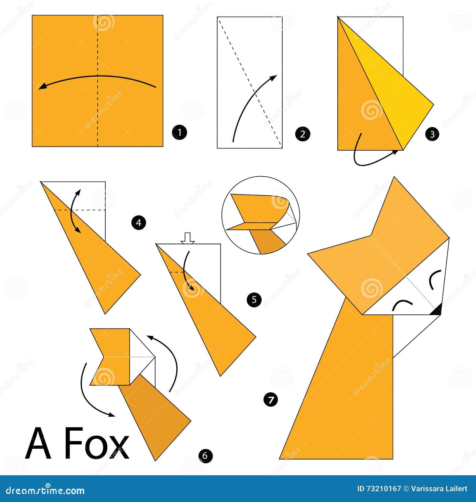 How to make an Origami Fox - Paper Fox ( Very Cute ) 1080P - YouTube | 1390x1300