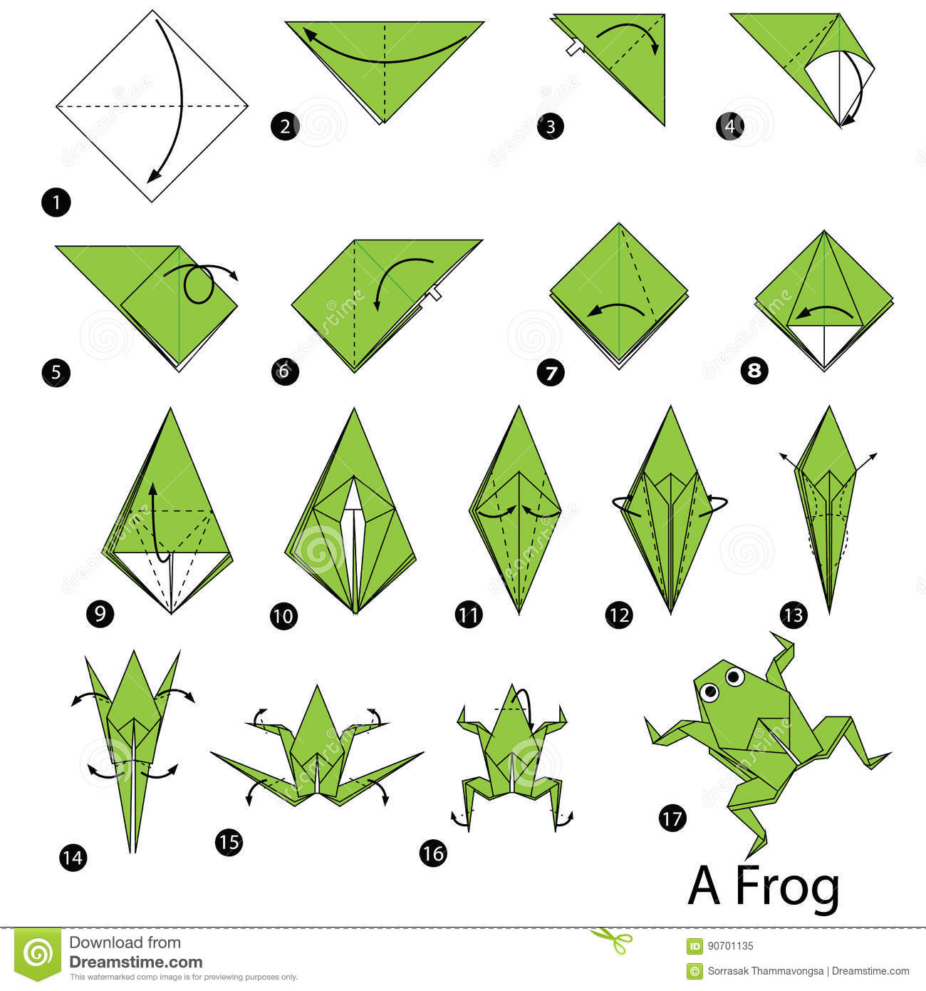 Step By Step Instructions How To Make Origami A Frog ... - photo#45