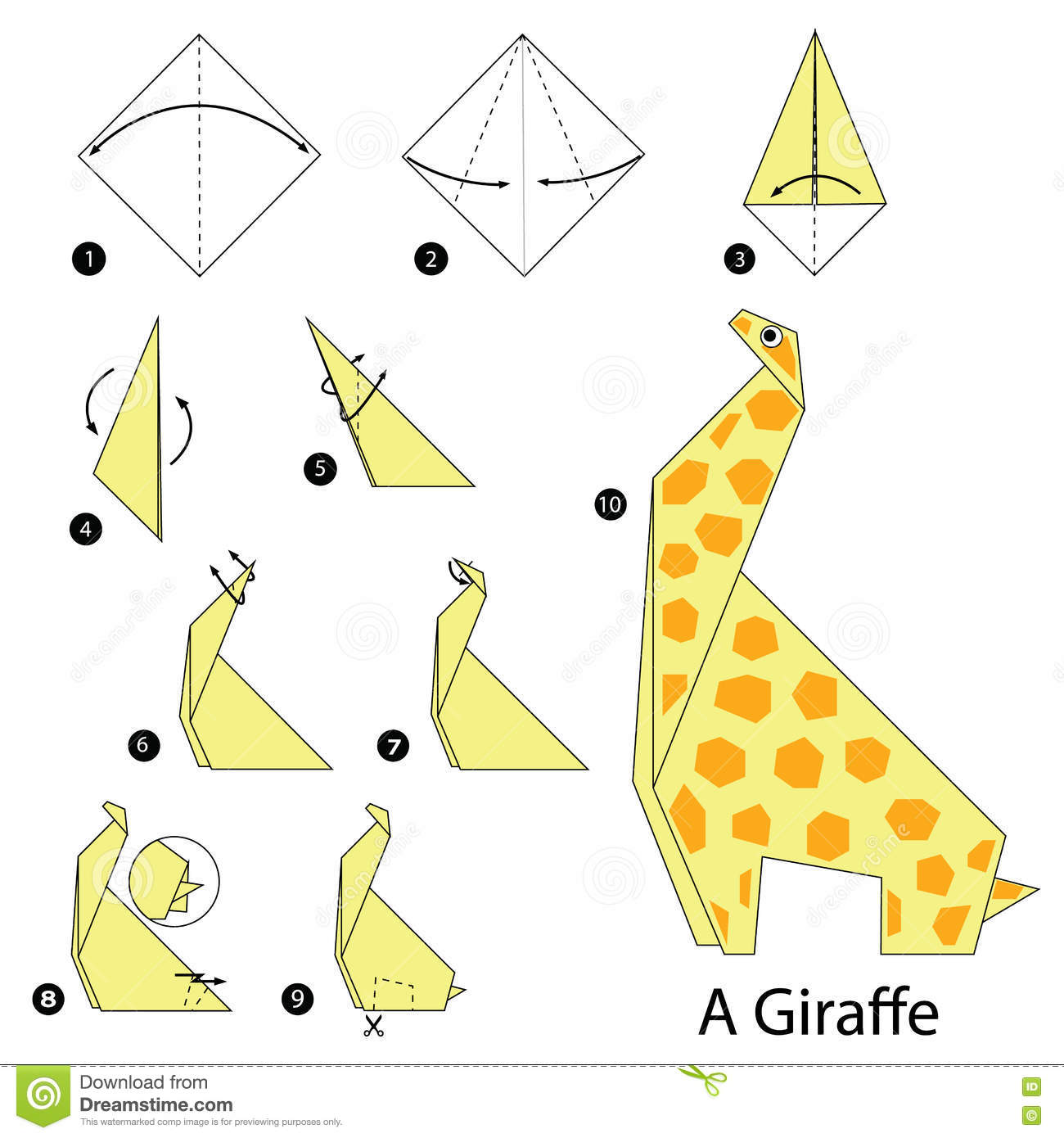 Peachy Origami Giraffe Instructions Wiring Cloud Geisbieswglorg
