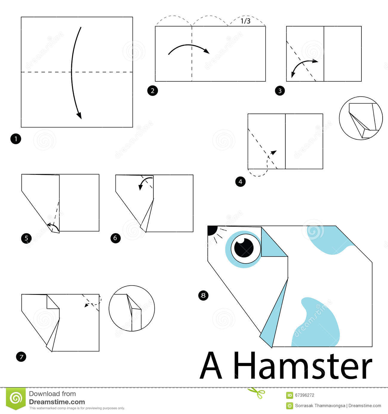 How to make an origami hamster gallery craft decoration ideas step by step instructions how to make origami a hamster stock step by step instructions how jeuxipadfo Choice Image