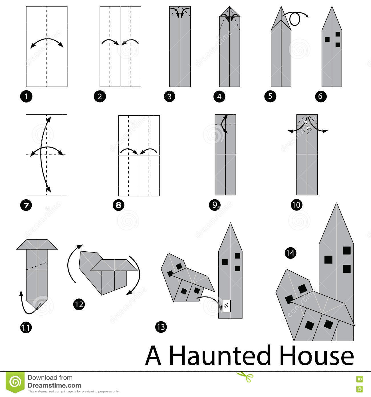 Step by step instructions how to make origami a haunted for How to build a house step by step instructions