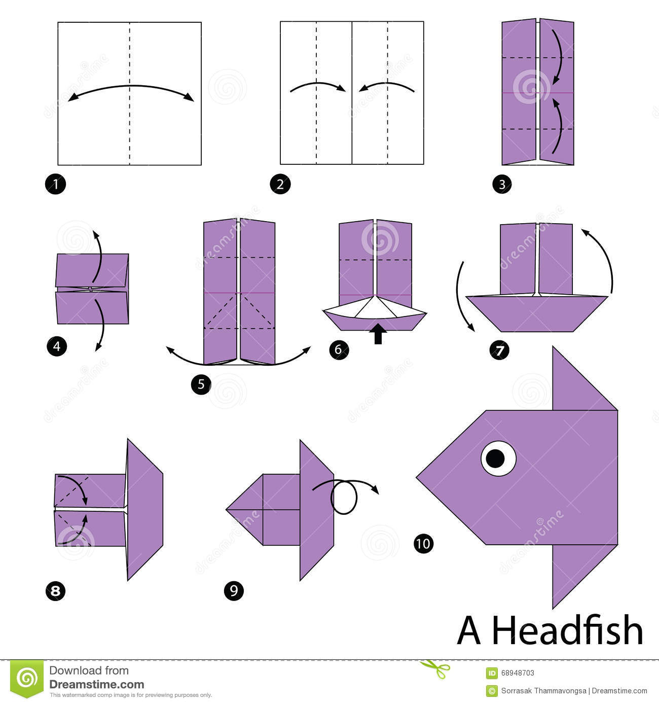 Step By Step Instructions How To Make Origami A Head Fish ... - photo#45