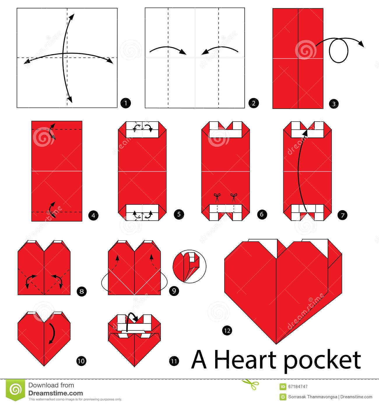 How To Make A Origami Love Heart Bookmark