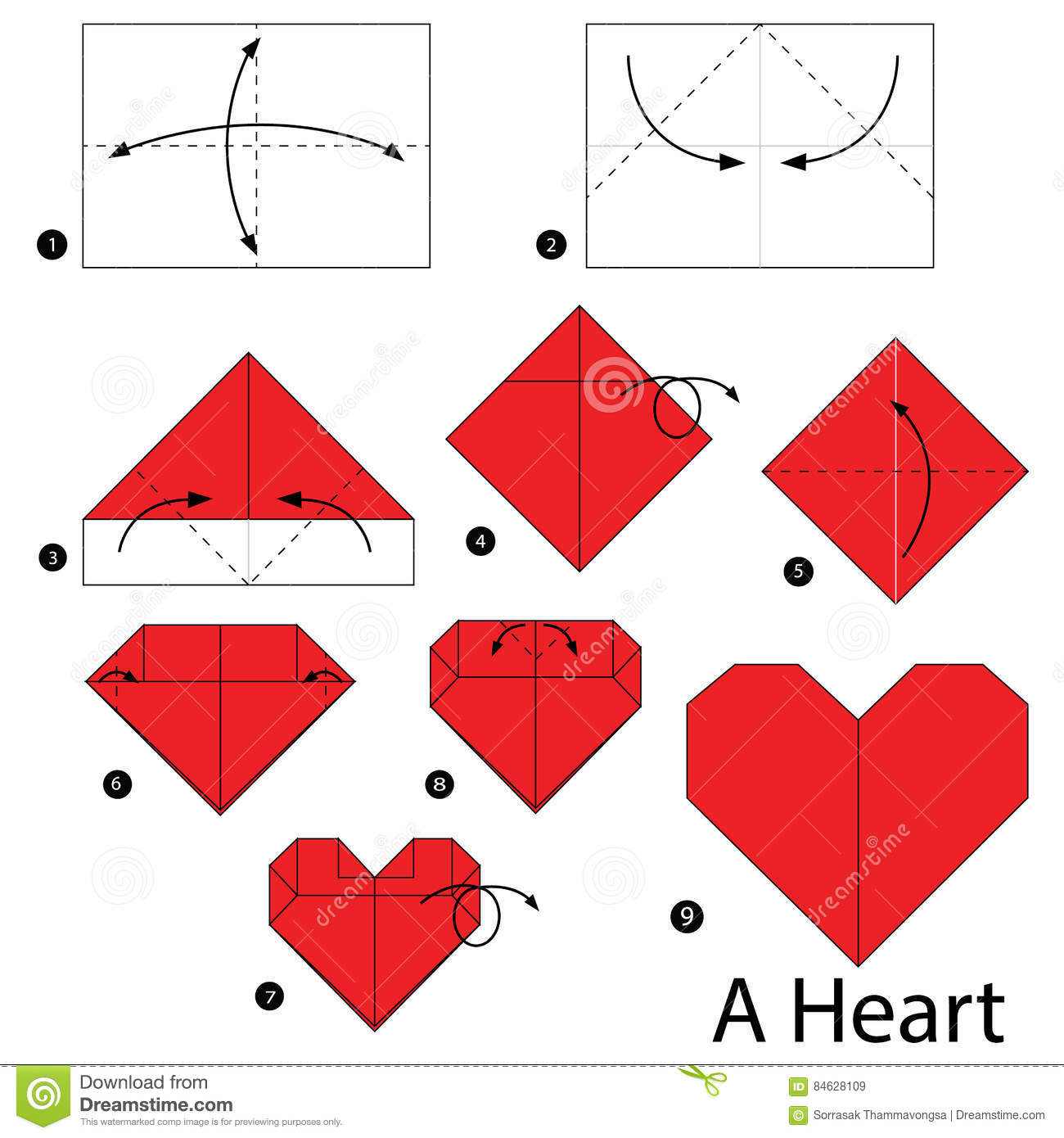 Step By Step Instructions How To Make Origami A Heart ... - photo#16