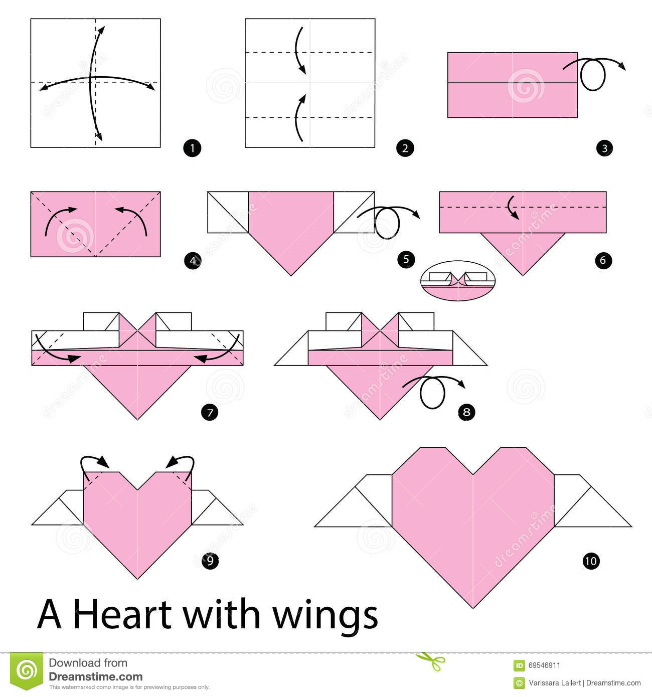 Step By Step Instructions How To Make Origami A Heart With ... - photo#4